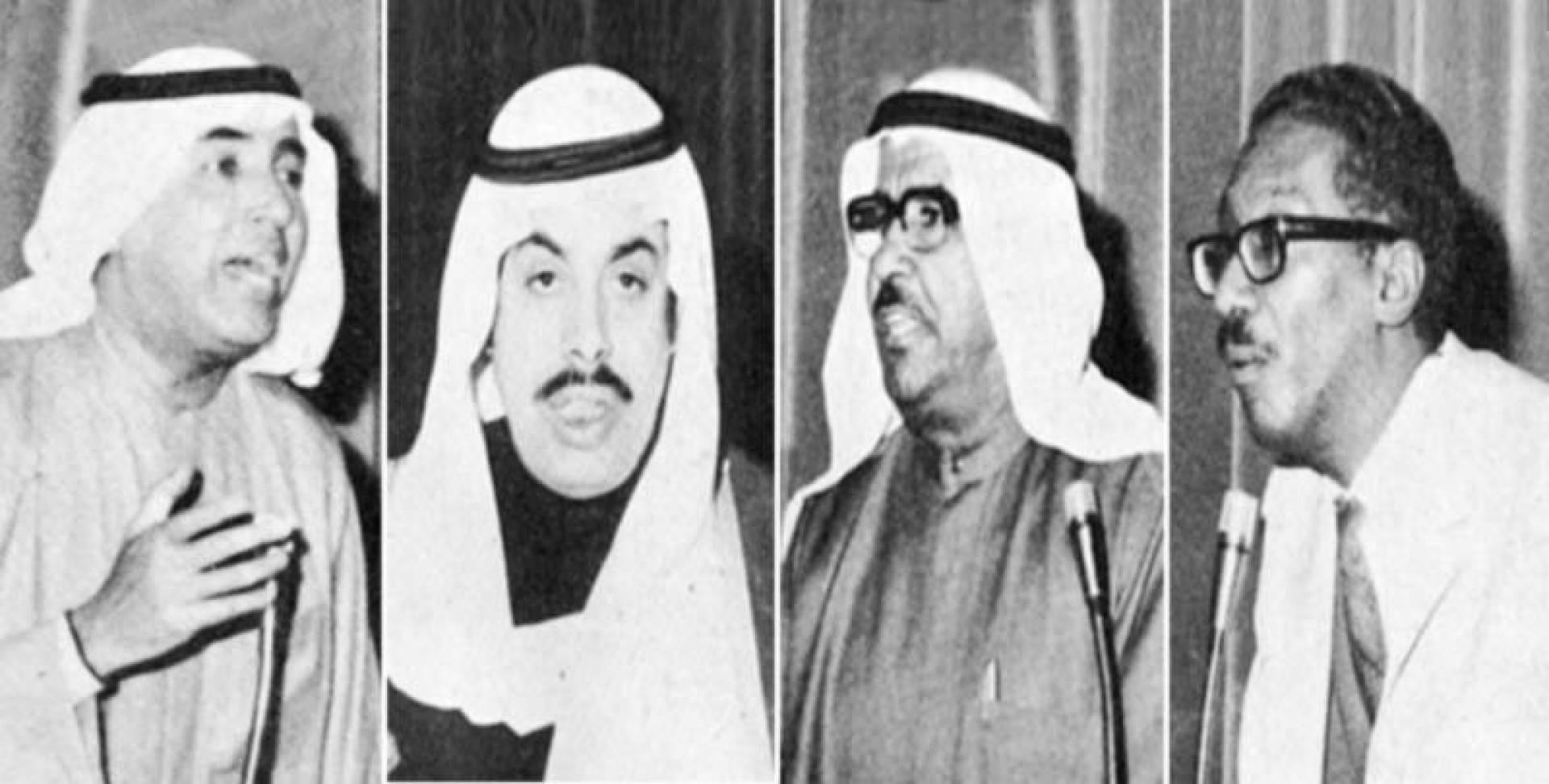 من اليمن د. أحمد الخطيب ومحمد الرشيد وحمد مبارك العيار ثم مبارك الحساوي