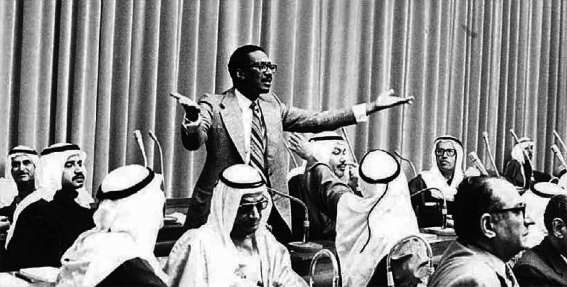 أحمد الخطيب في مجلس الأمة في الستينات.. أرشيفية