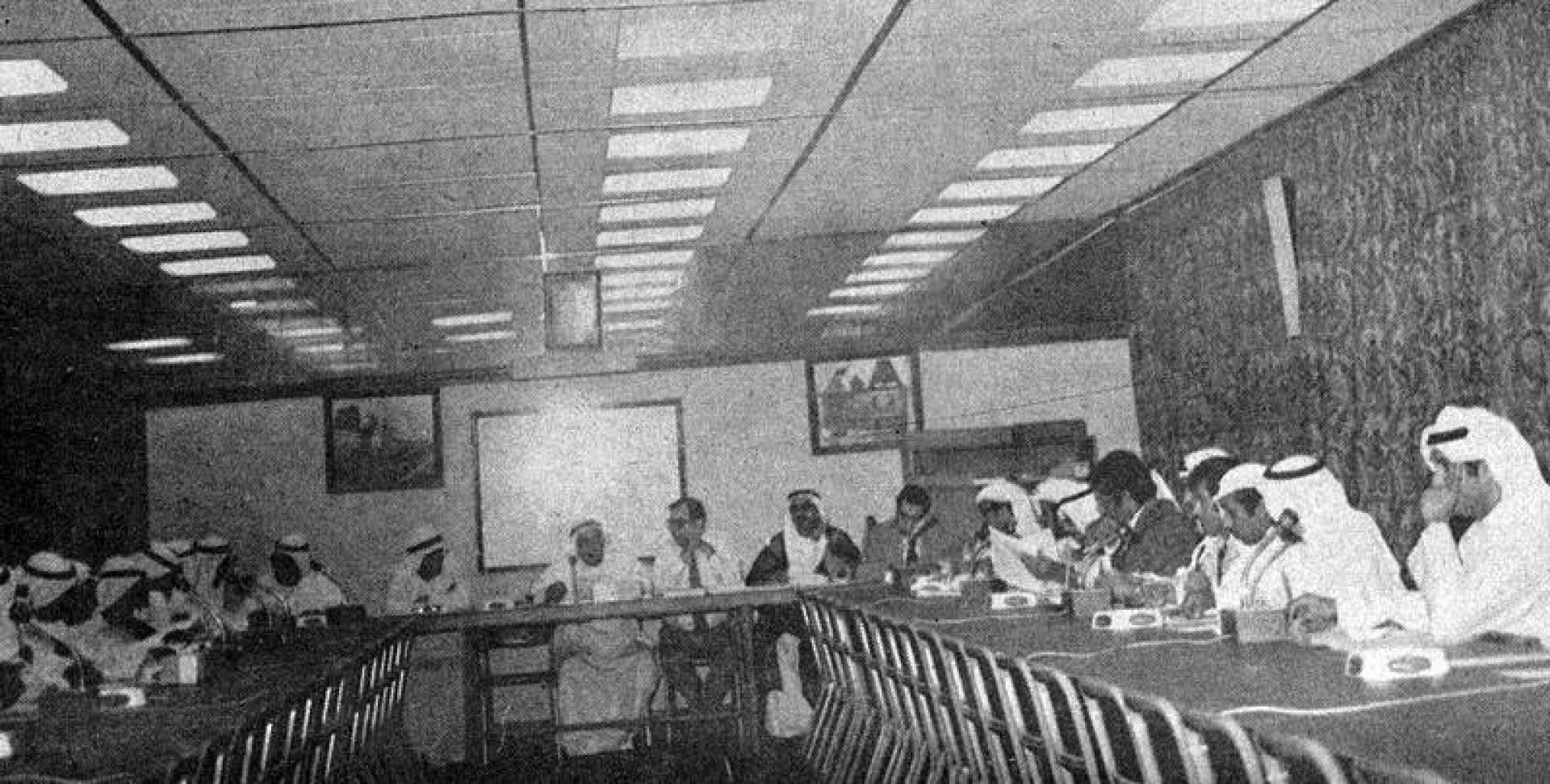 الإجتماع الذي عقد يوم الاثنين مع ممثلي الشركات الوطنية.. أرشيفية