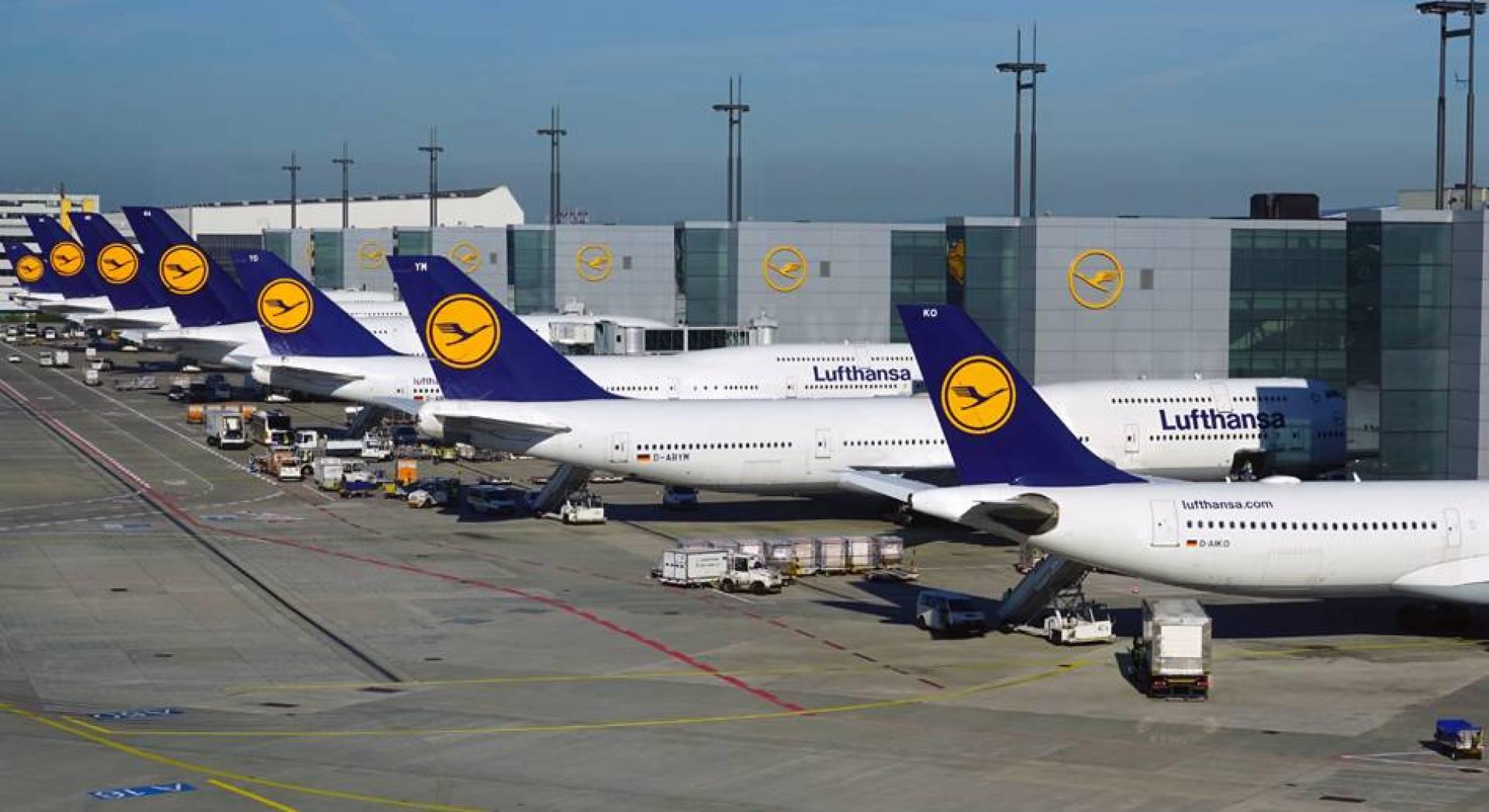 طائرات تابعة للشركة الألمانية للطيران «لوفتهانزا»