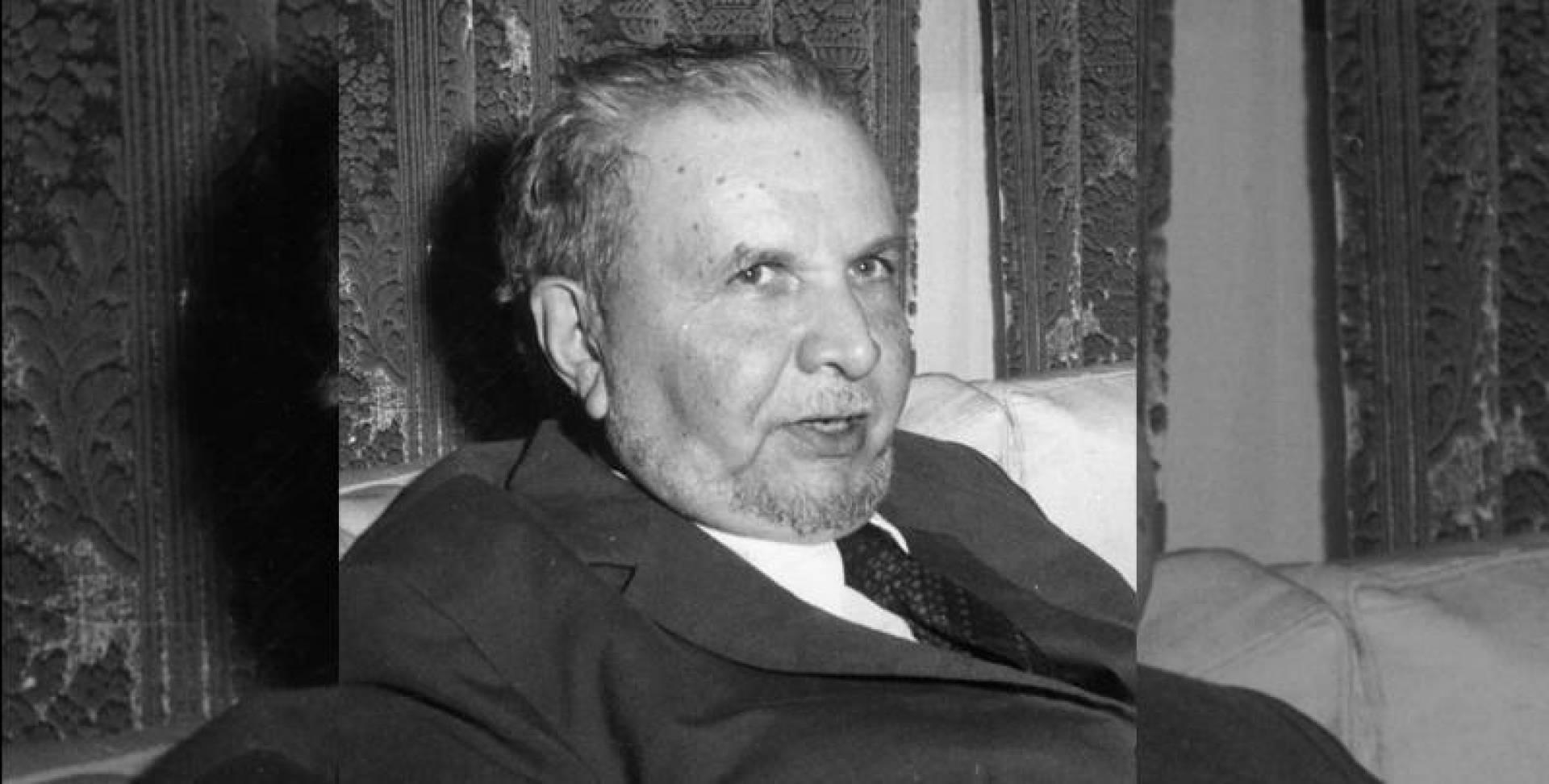 علال الفاسي رئيس حزب الاستقلال.. صورة أرشيفية