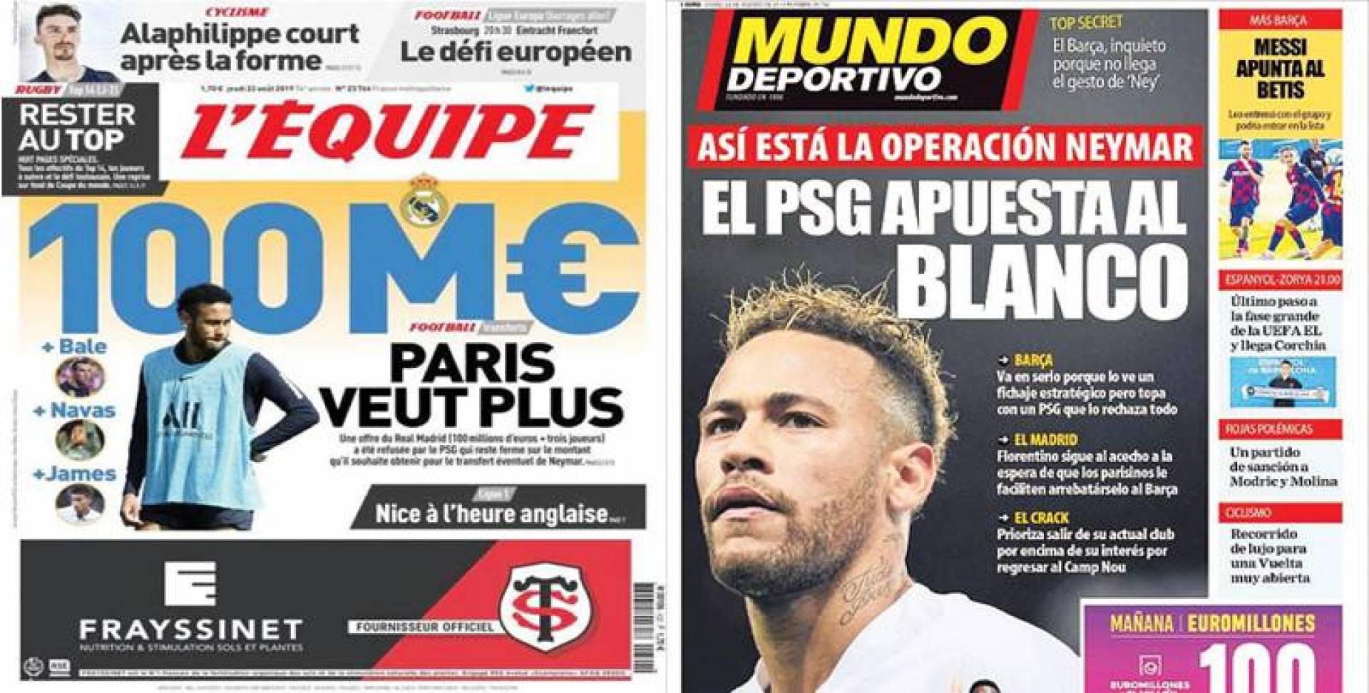 الصحف الأسبانية والفرنسية: سان جيرمان ما زال متصلباً في صفقة نيمار