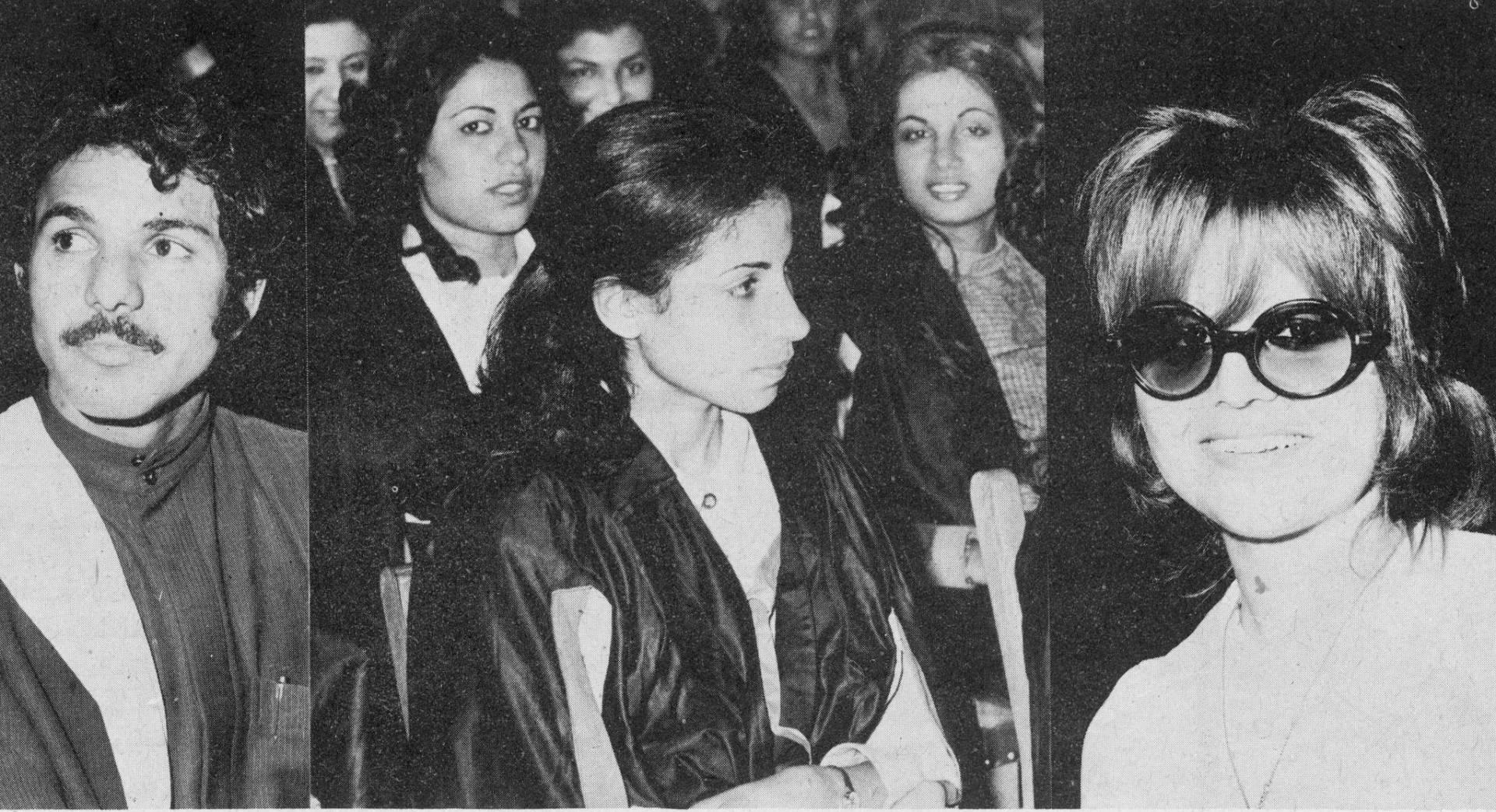 من اليمين السيدة نبيهة الغربللي، والسيدة آمال حسن العشماوي، والطالب خالد سالم العلي.. أرشيفية