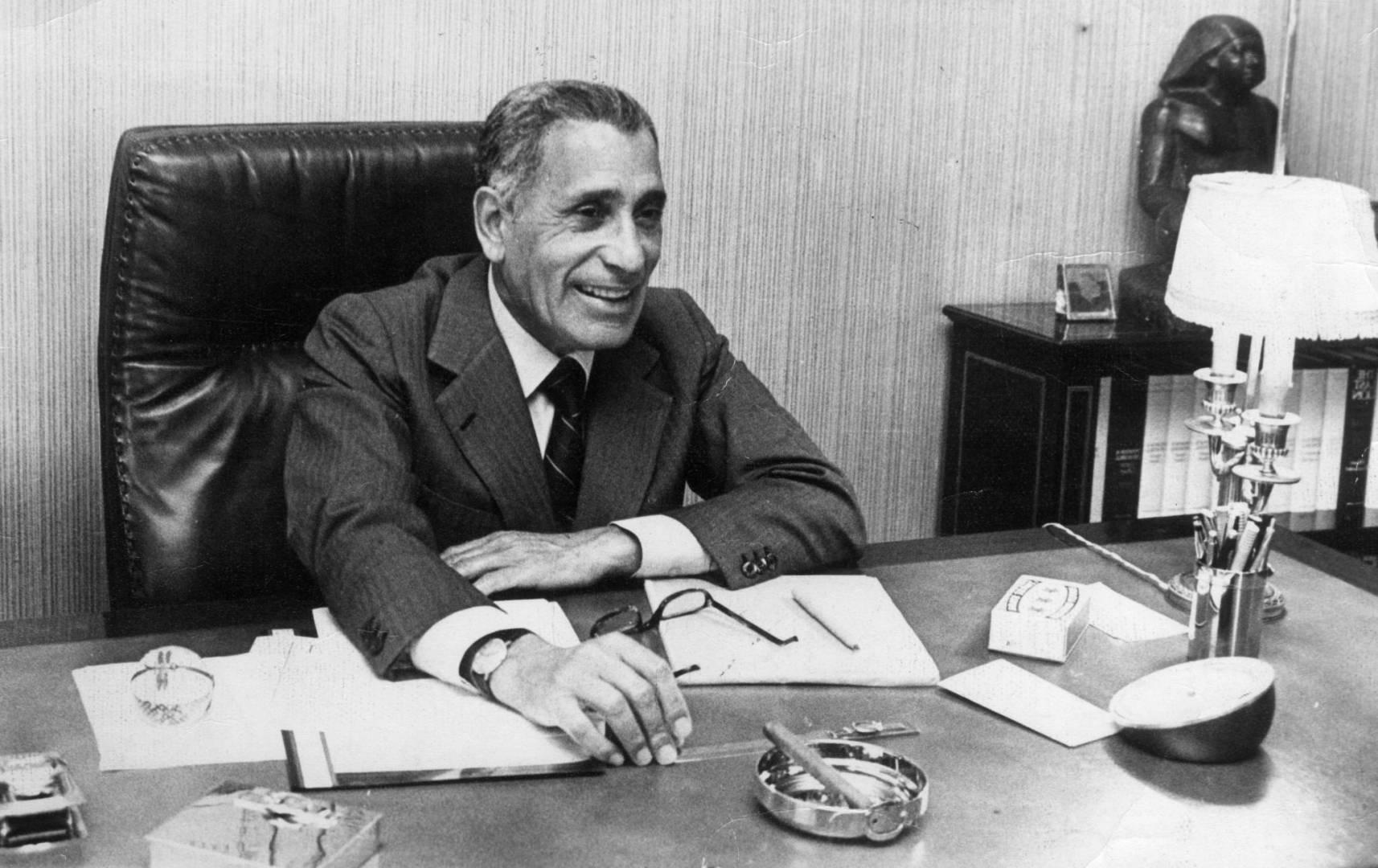 محمد حسنين هيكل.. صورة أرشيفية