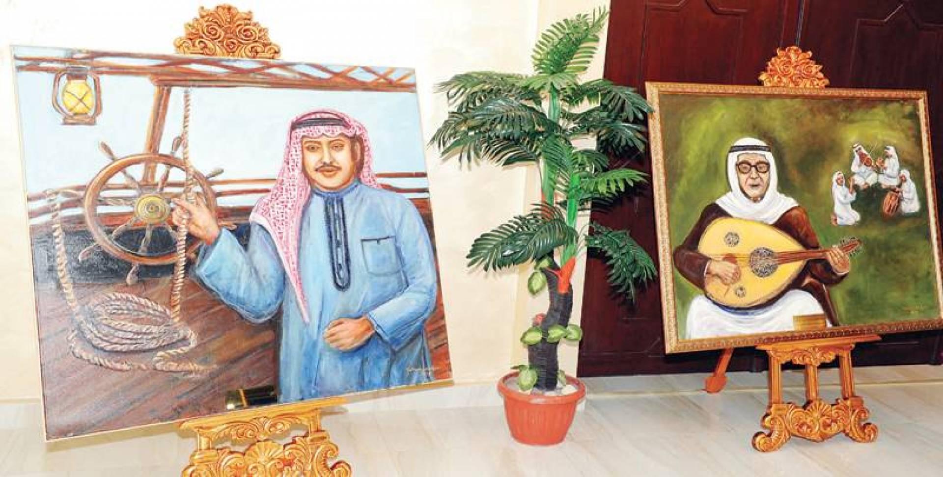 عبداللطيف الكويتي بريشة إبتسام العصفور   تصوير أحمد سرور
