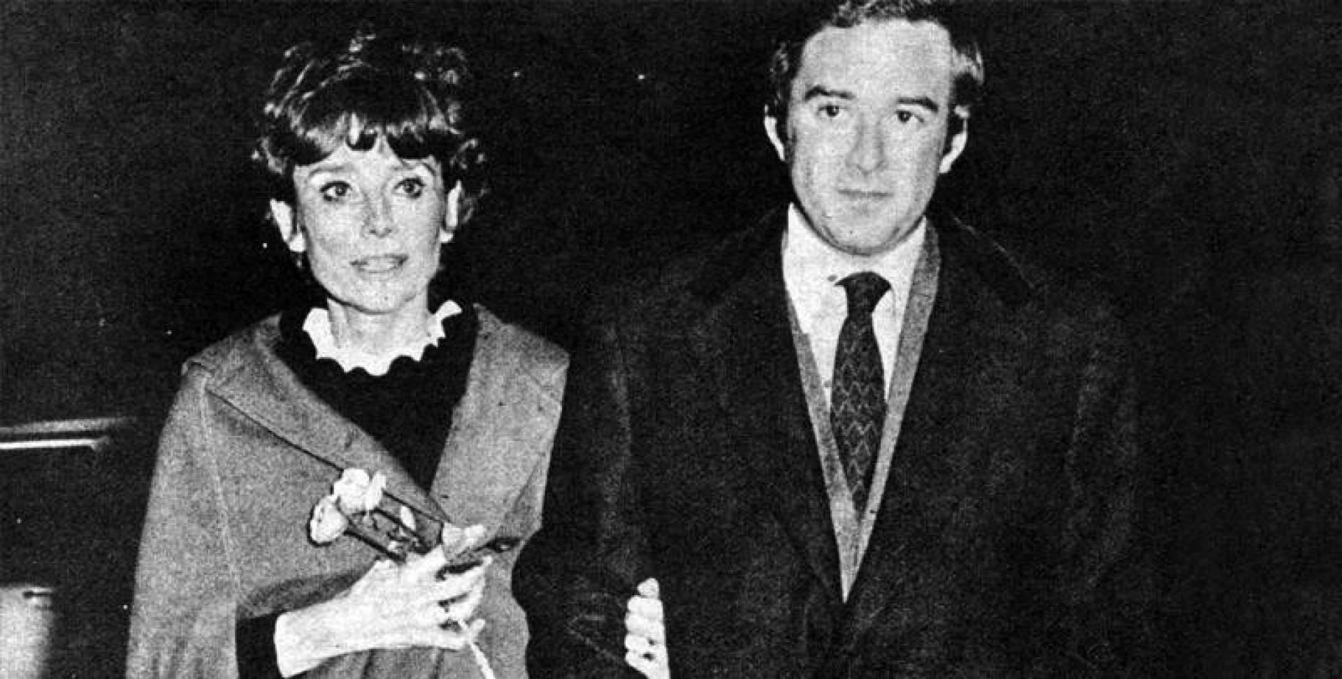 أودري هيبورن مع زوجها الدكتور اندريا دوني.. أرشيفية