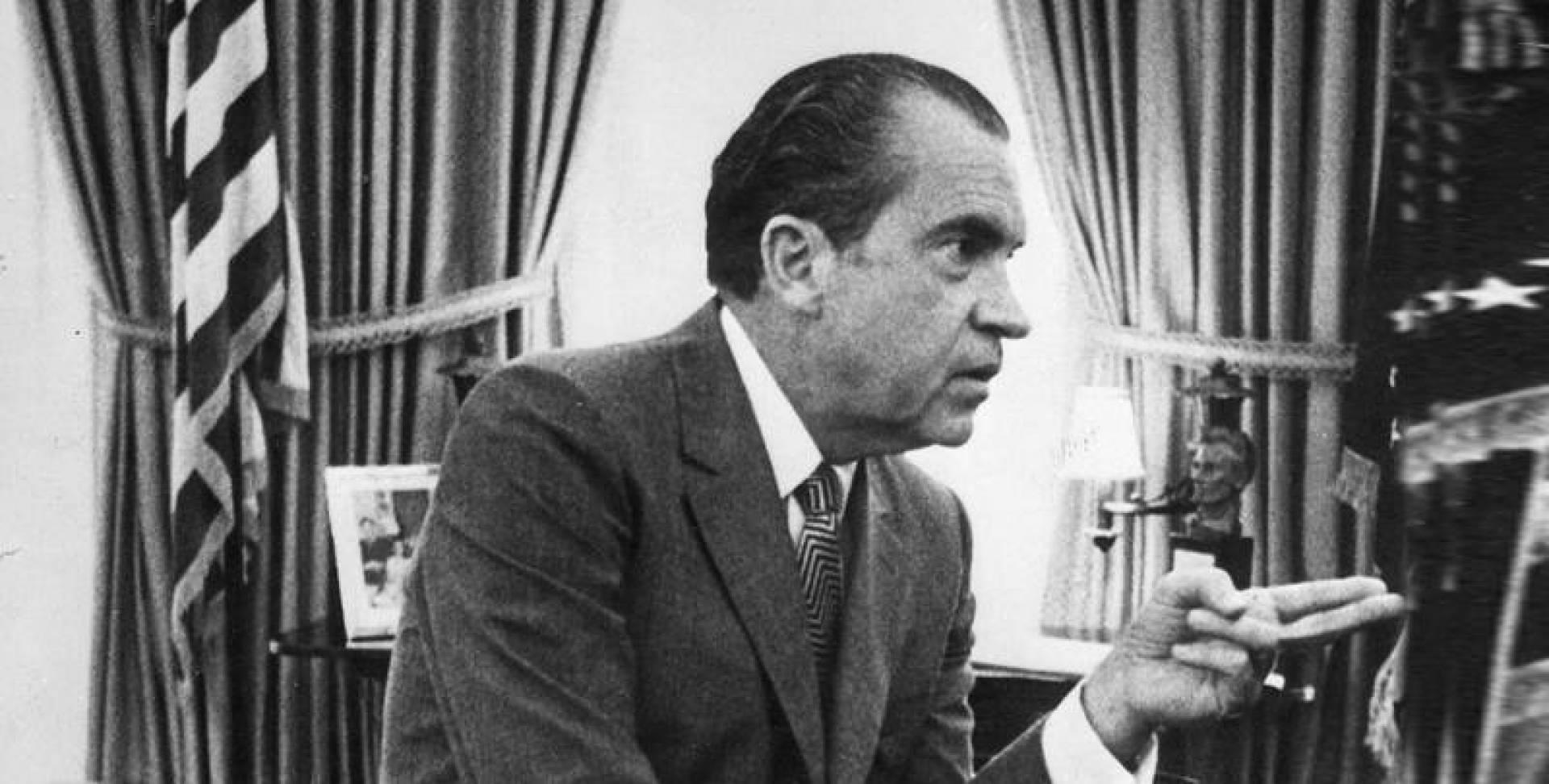 الرئيس الأميركي ريتشارد نيكسون.. صورة أرشيفية