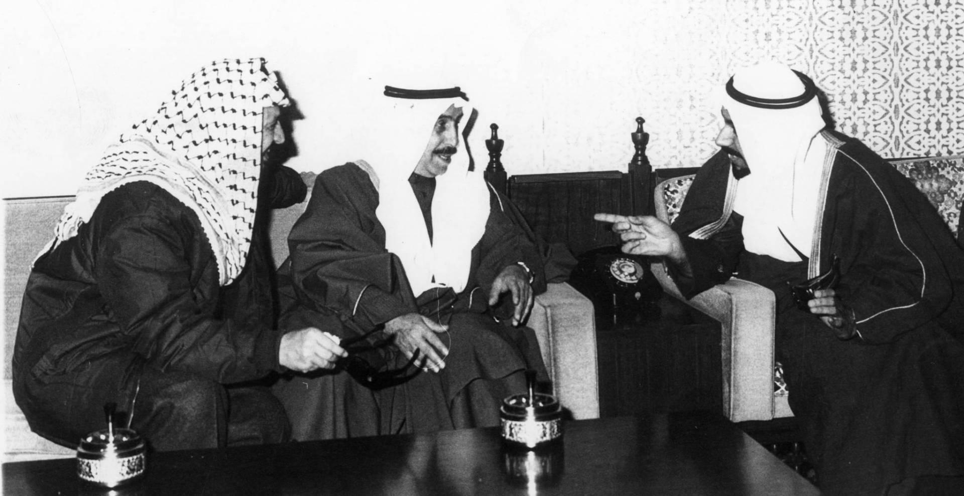 استقبال أمير البلاد وولي العهد لأبو عمار