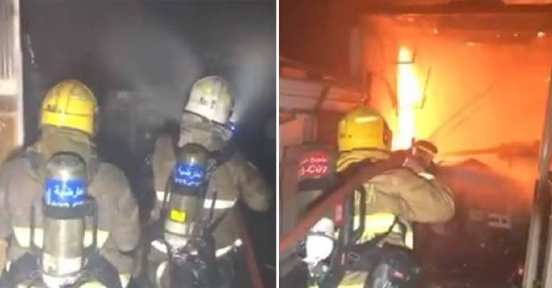حريق يلتهم قسيمة في الشويخ الصناعية.. و«الإطفاء» تتدخل