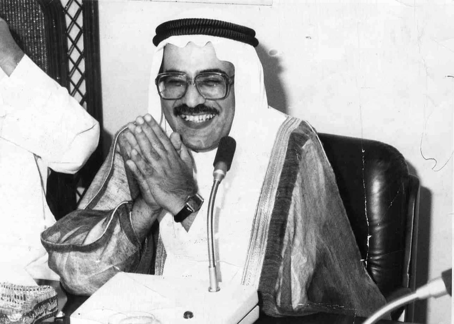 الشيخ علي الخليفة الصباح وزير النفط.. صورة أرشيفية