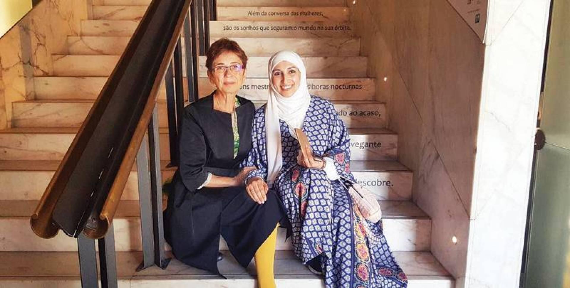 تسنيم المذكور مع بيلار زوجة الحائز على نوبل جوزيه ساراماغو