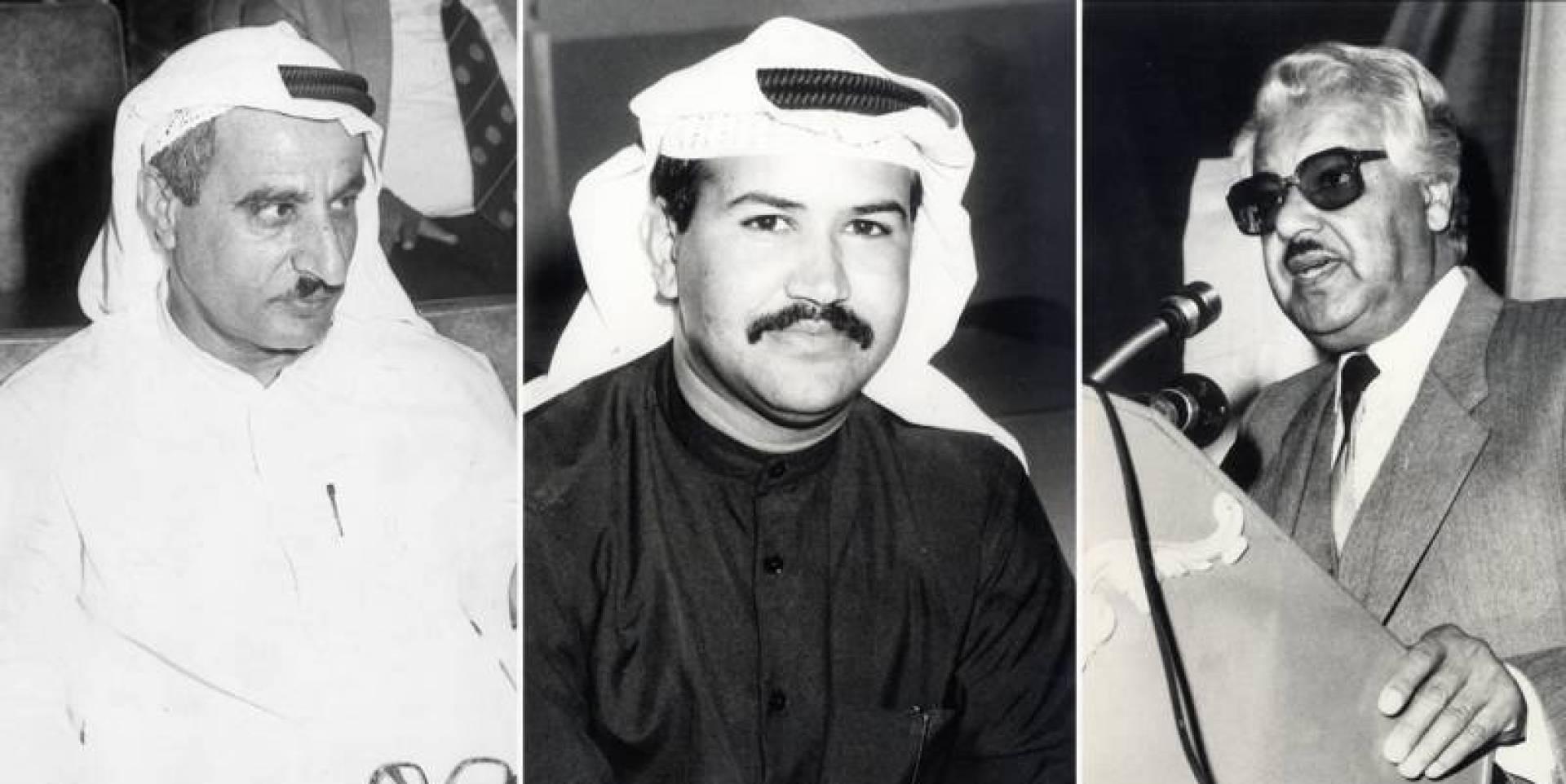 الشاعر يعقوب الرشيد وناصر الظفيري وخالد سعود الزيد.. صورة أرشيفية