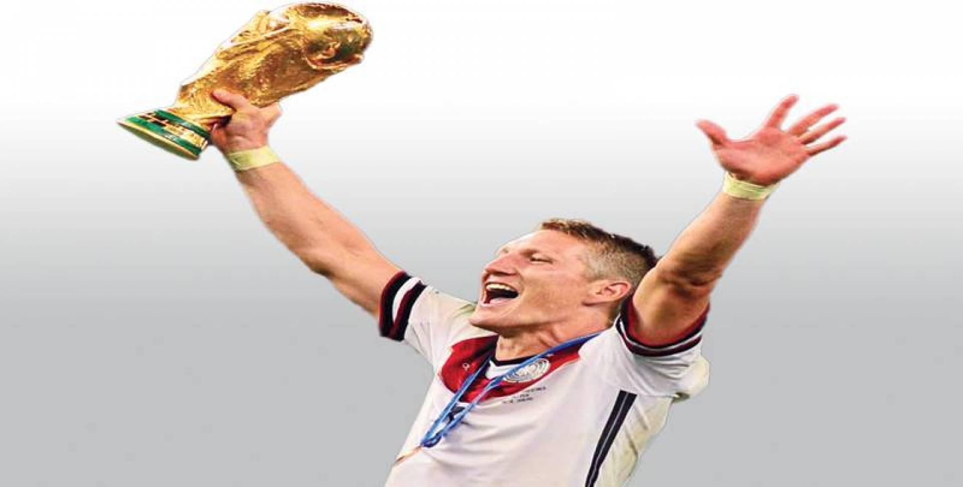 شفاينشتايغر يحتفل بكأس العالم