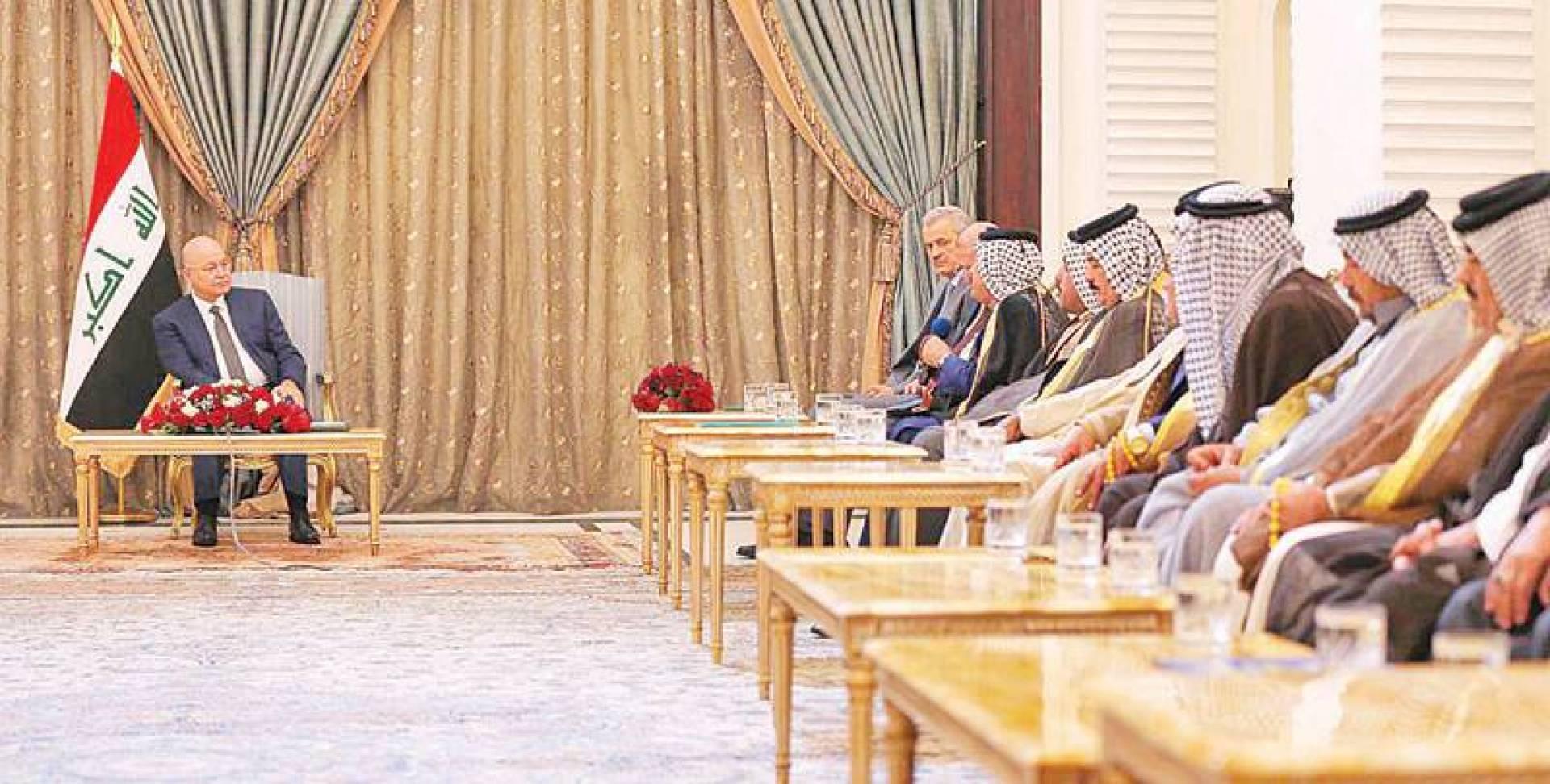 صالح مستقبلاً شيوخ ووجهاء مدينة الصدر | إنترنت