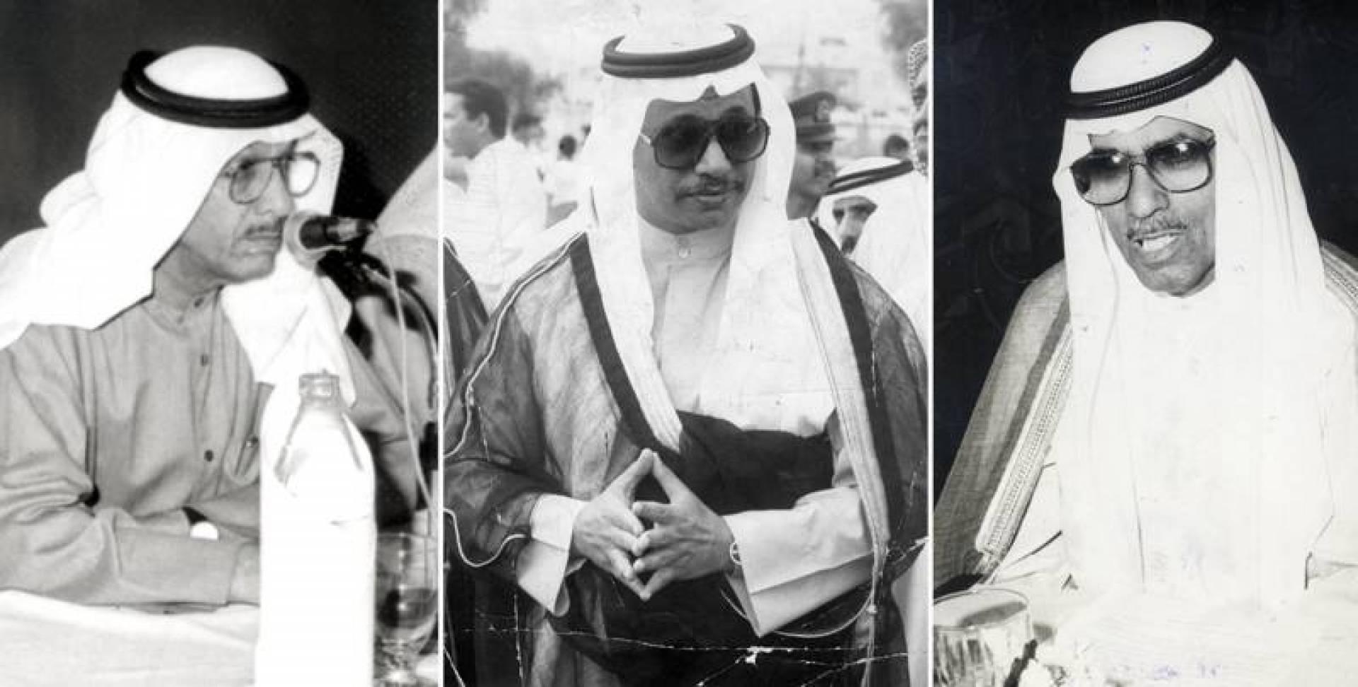السيد عبدالرحمن المزروعي والشيخ جابر مبارك الحمد الصباح والسيد عبدالرحمن المزروعي