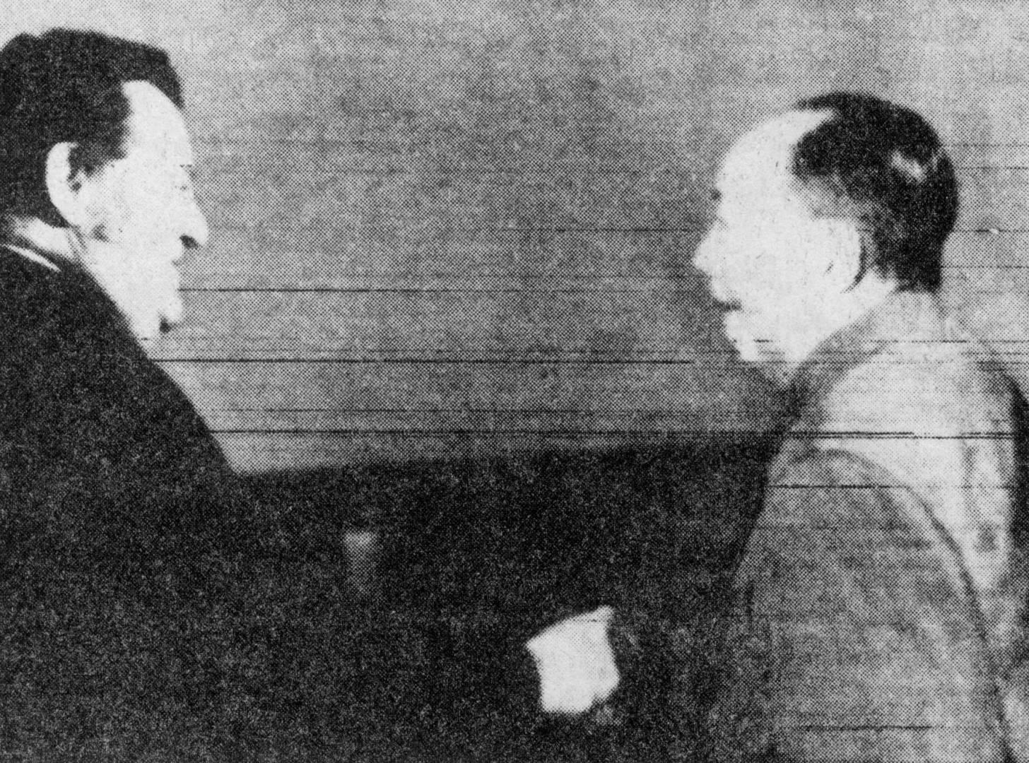 الزعيم الصيني ماو تسي تونغ مستقبلاً فرانزجوزف شتراوس.. صورة أرشيفية