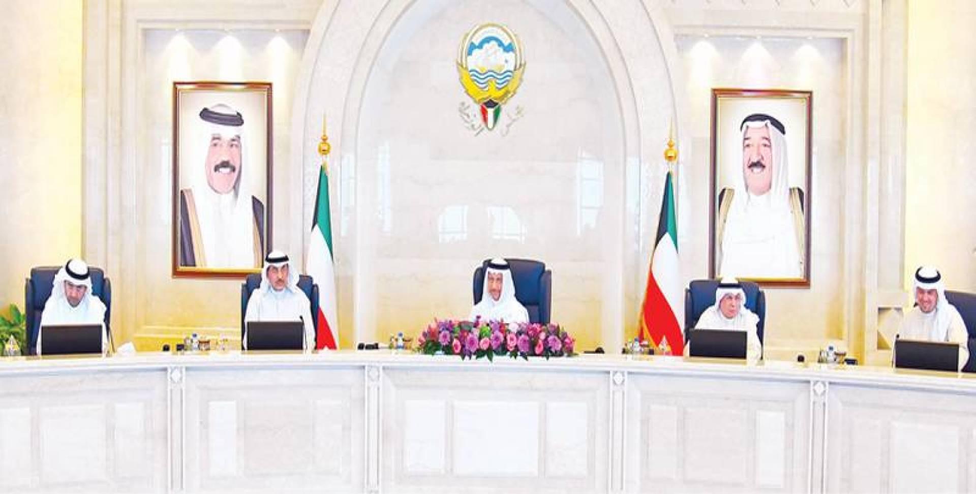 المبارك مترئسا اجتماع مجلس الوزراء