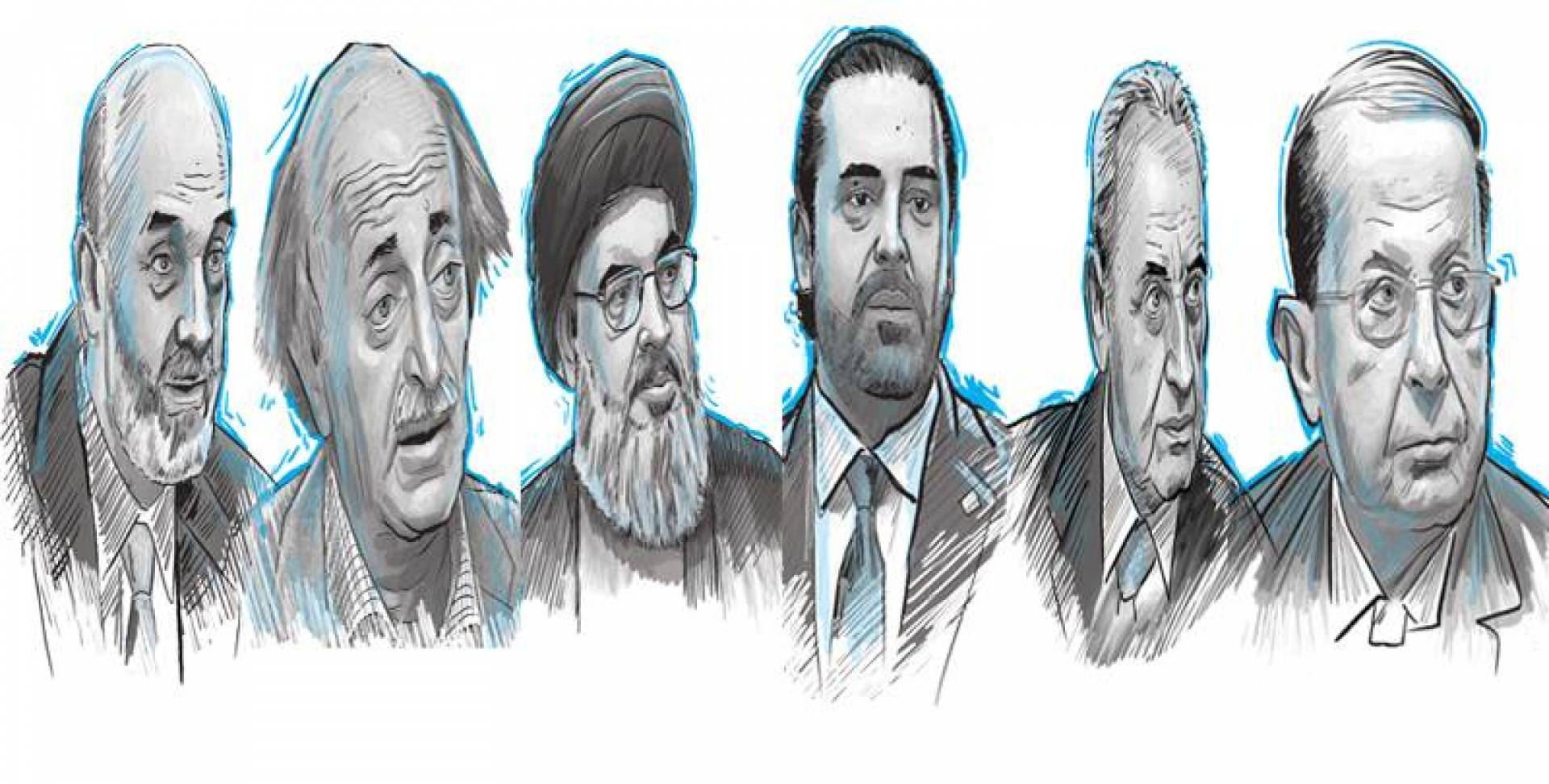 6 رجال يتصدرون المشهد السياسي اللبناني