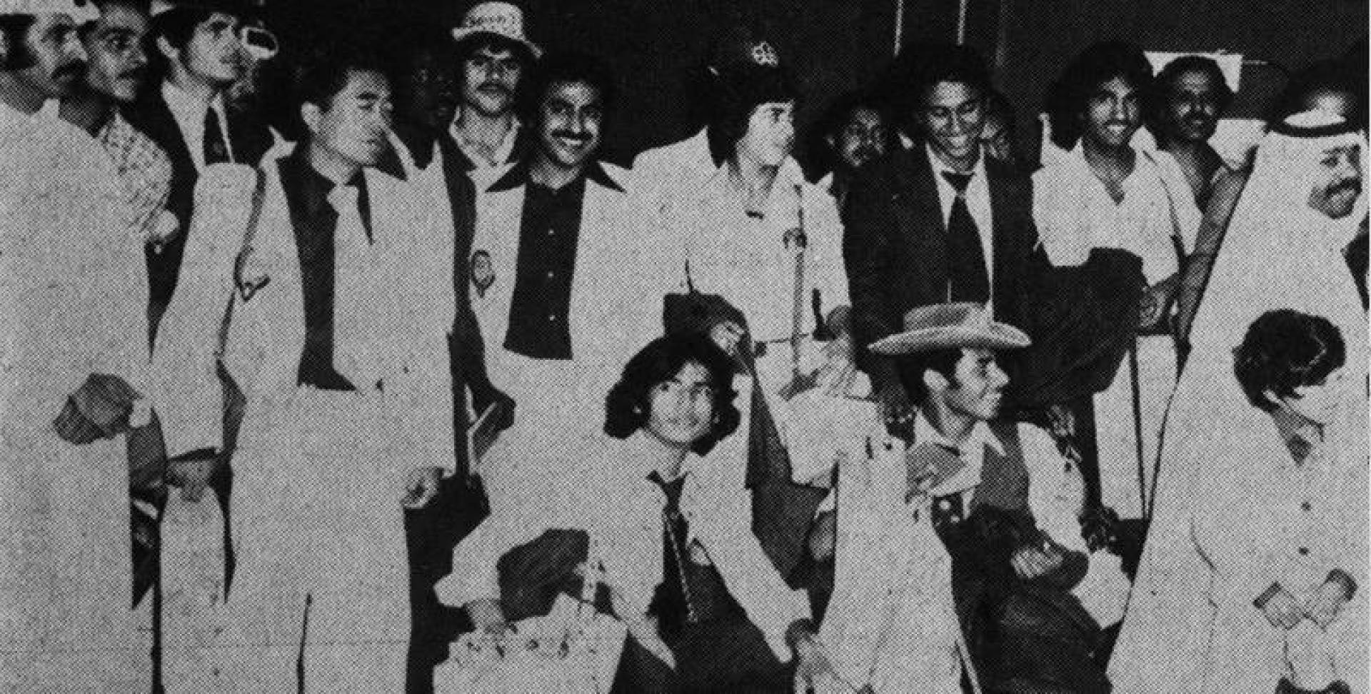 مجموعة من وفد دولة الكويت للدورة الأولمبية في مونتريال.. أرشيفية