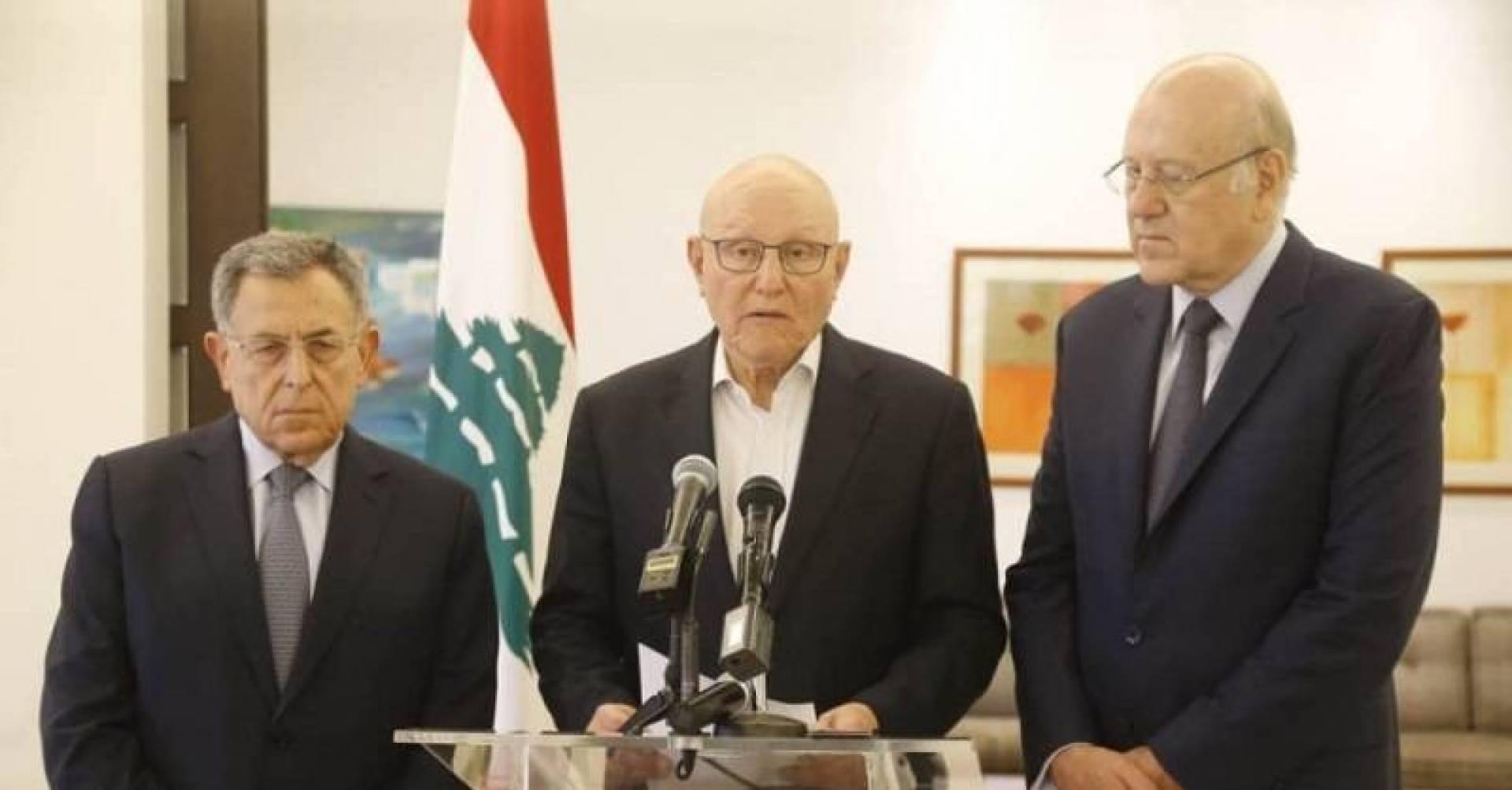 بيان بعد اجتماع لرؤساء الحكومة اللبنانيين السابقين بعد استقالة سعد الحريري