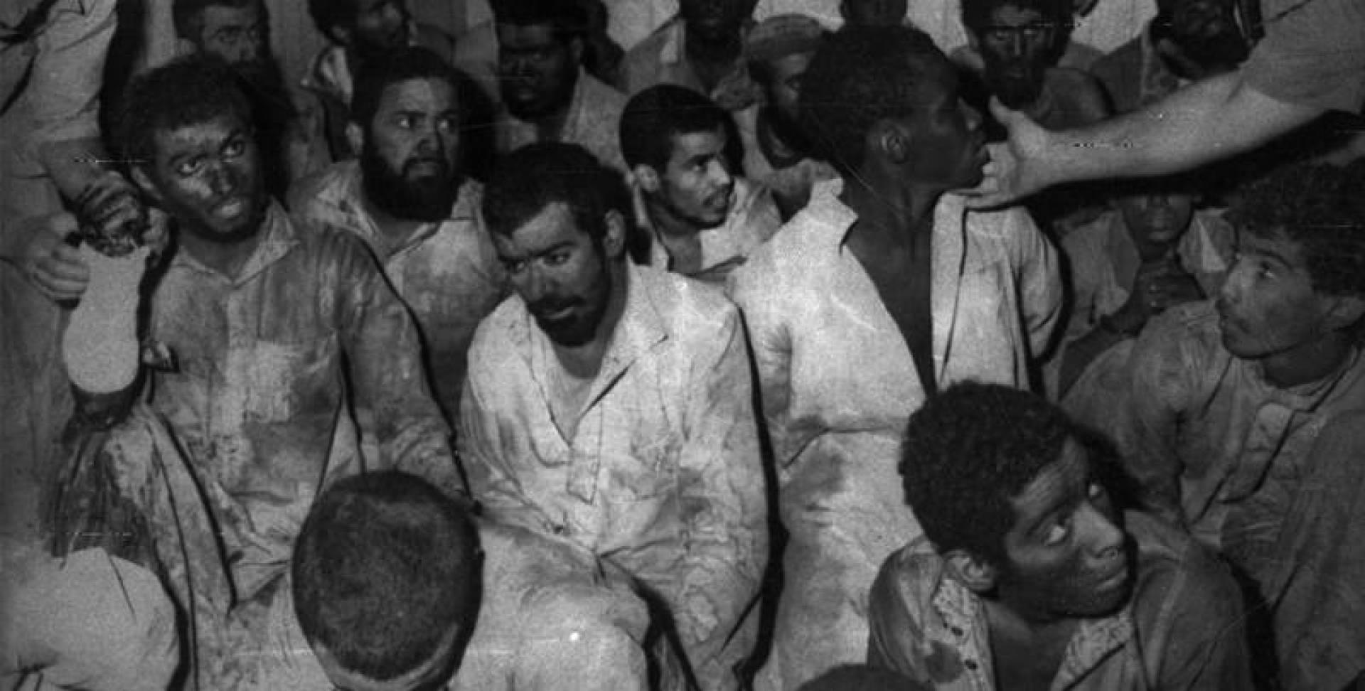 مجموعة من المسلحين الذين أعدموا بعد إدانتهم.. أرشيفية