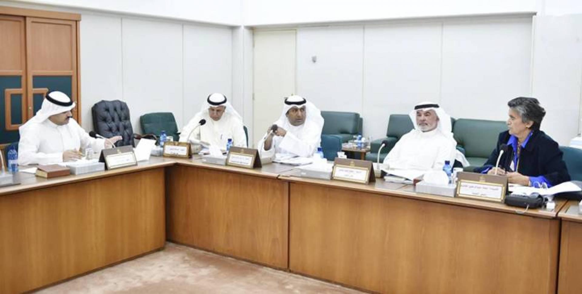 جانب من اجتماع اللجنة المالية أمس