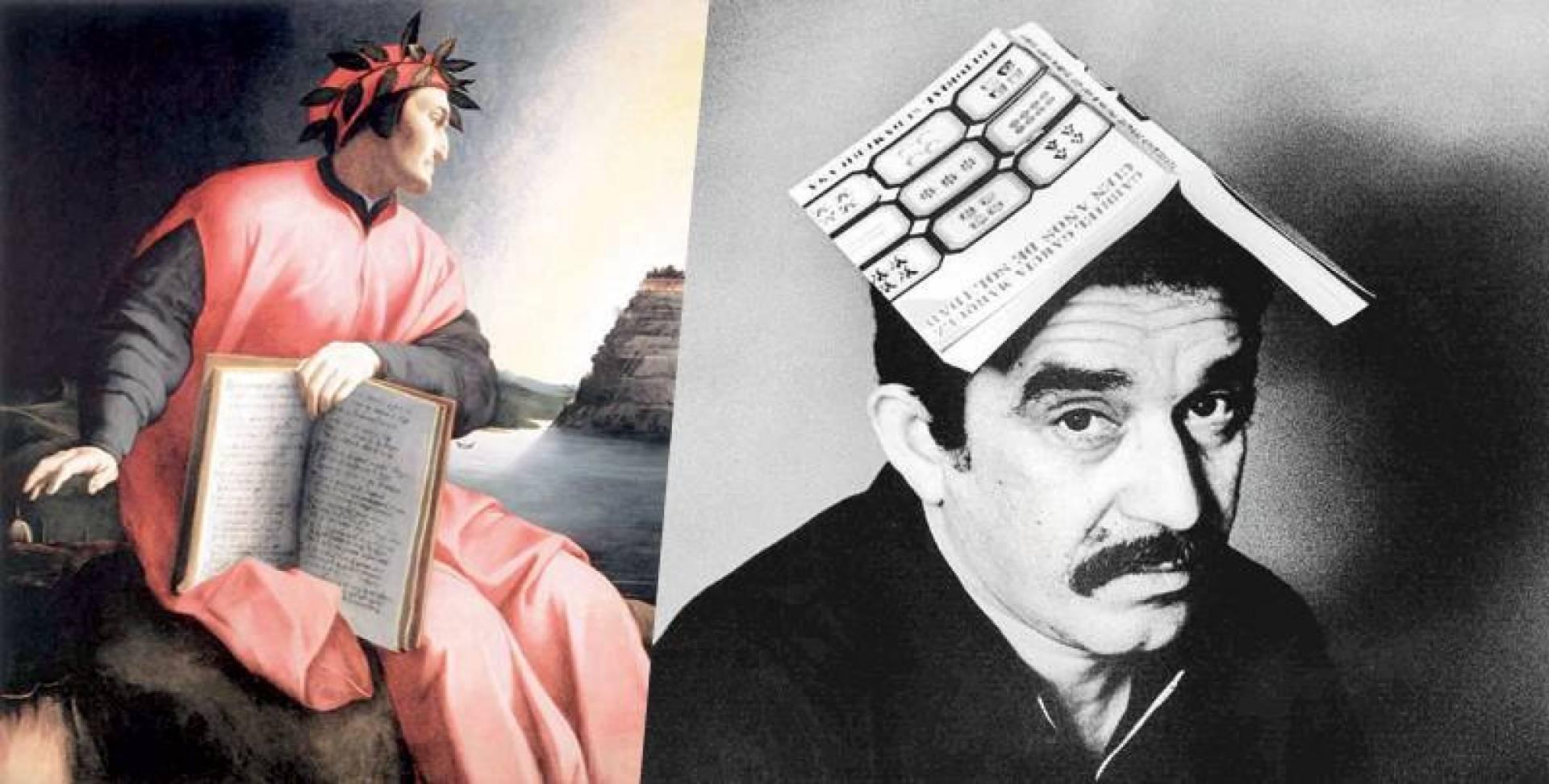 ماركيز وروايته الشهيرة - لوحة تجسد الشاعر دانتي ممسكا بكتابه