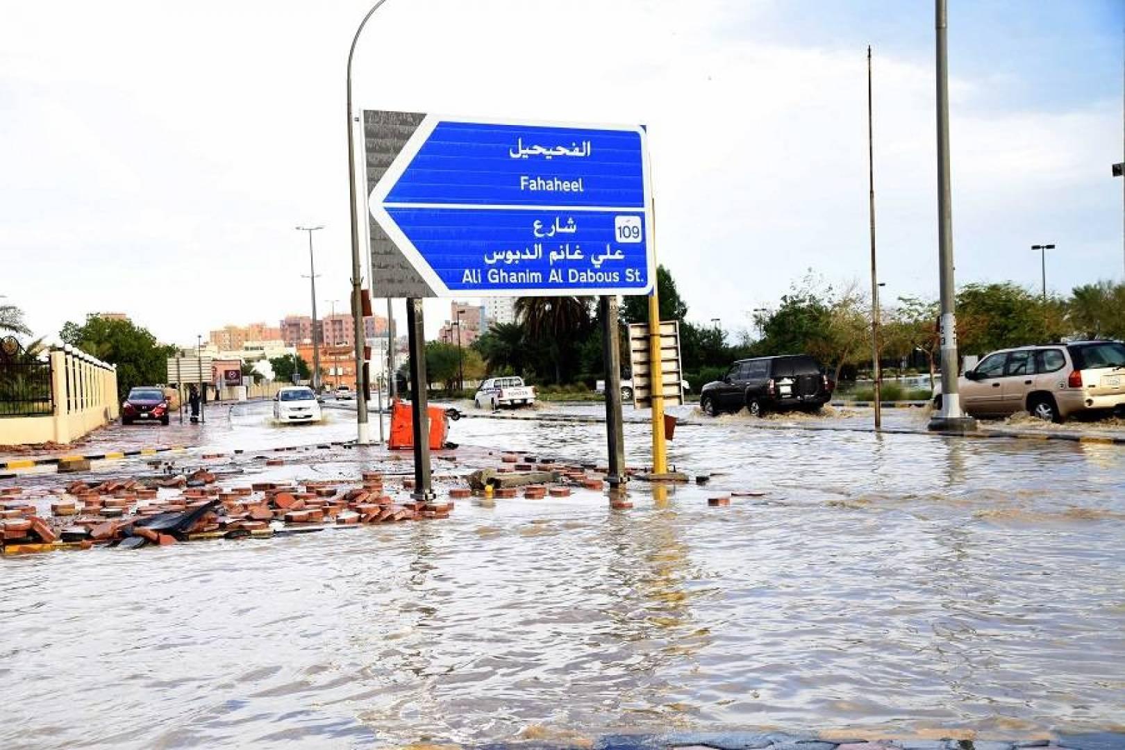 في مثل هذا اليوم.. السيول تُغرق الكويت