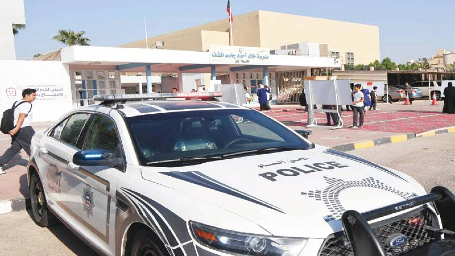 دورية أمنية في محيط المدارس