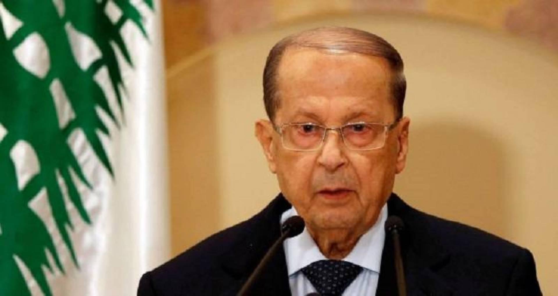 الرئيس اللبناني: دعونا المتظاهرين للحوار ولم نتلق جواباً منهم