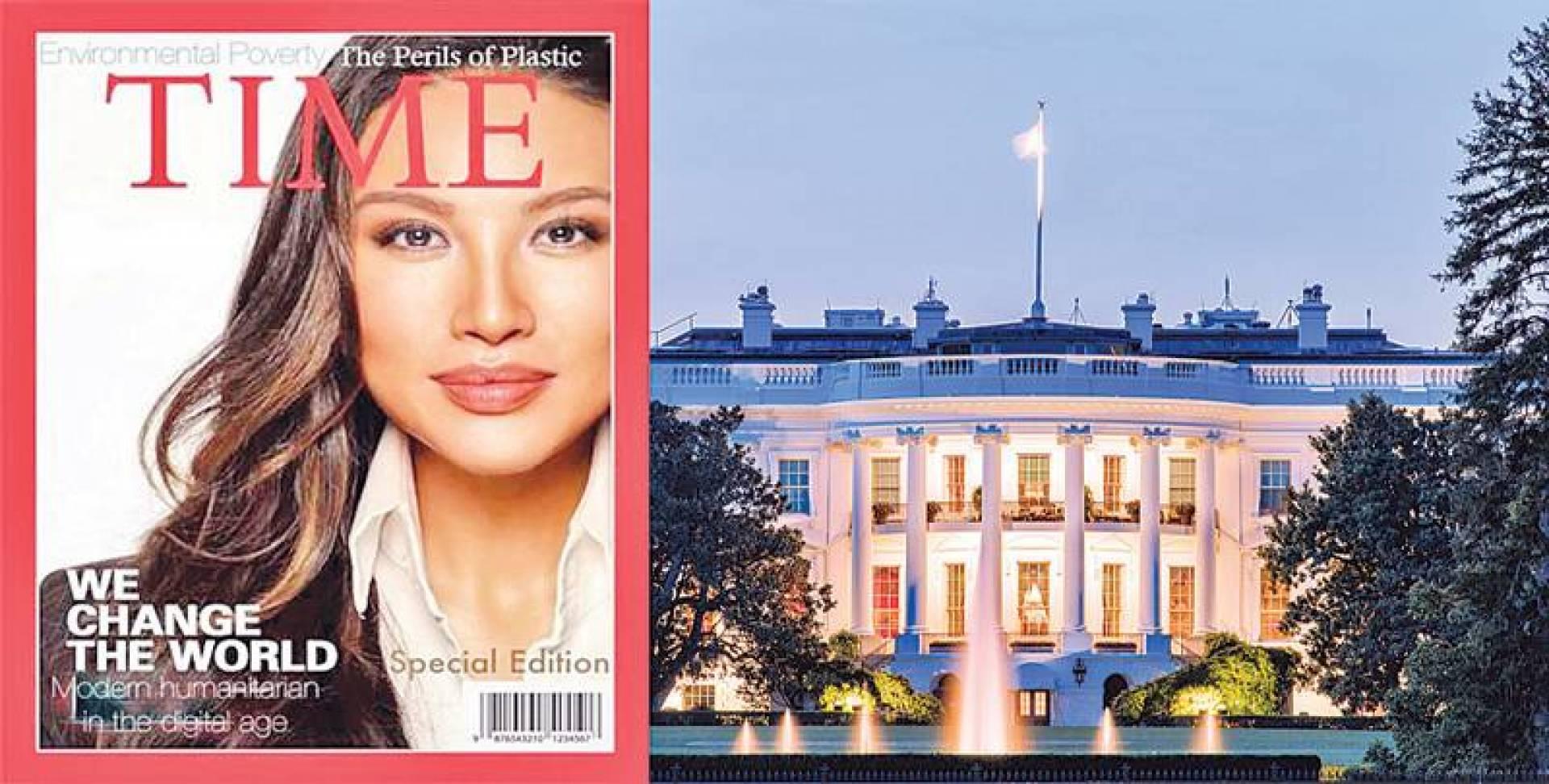 مينا تشانغ على غلاف مفبرك لمجلة تايم