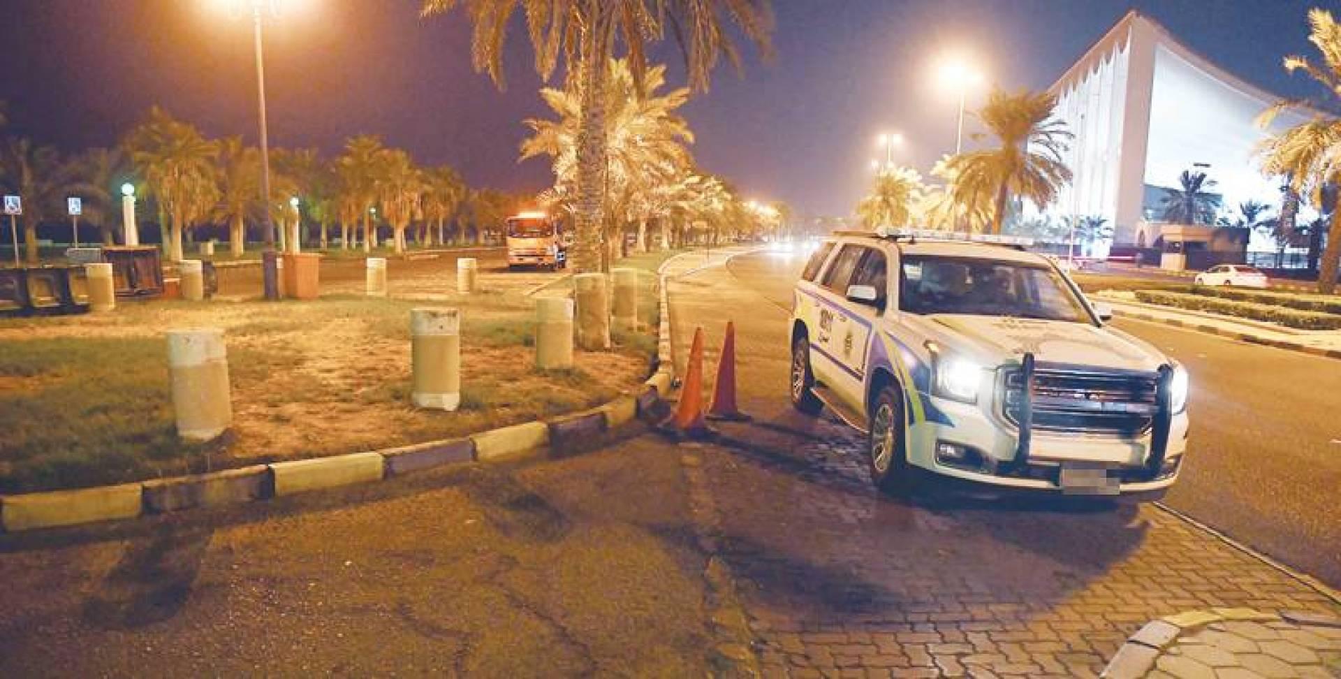 دورية مرور في ساحة الإرادة عقب فتحها | تصوير مصطفى نجم الدين