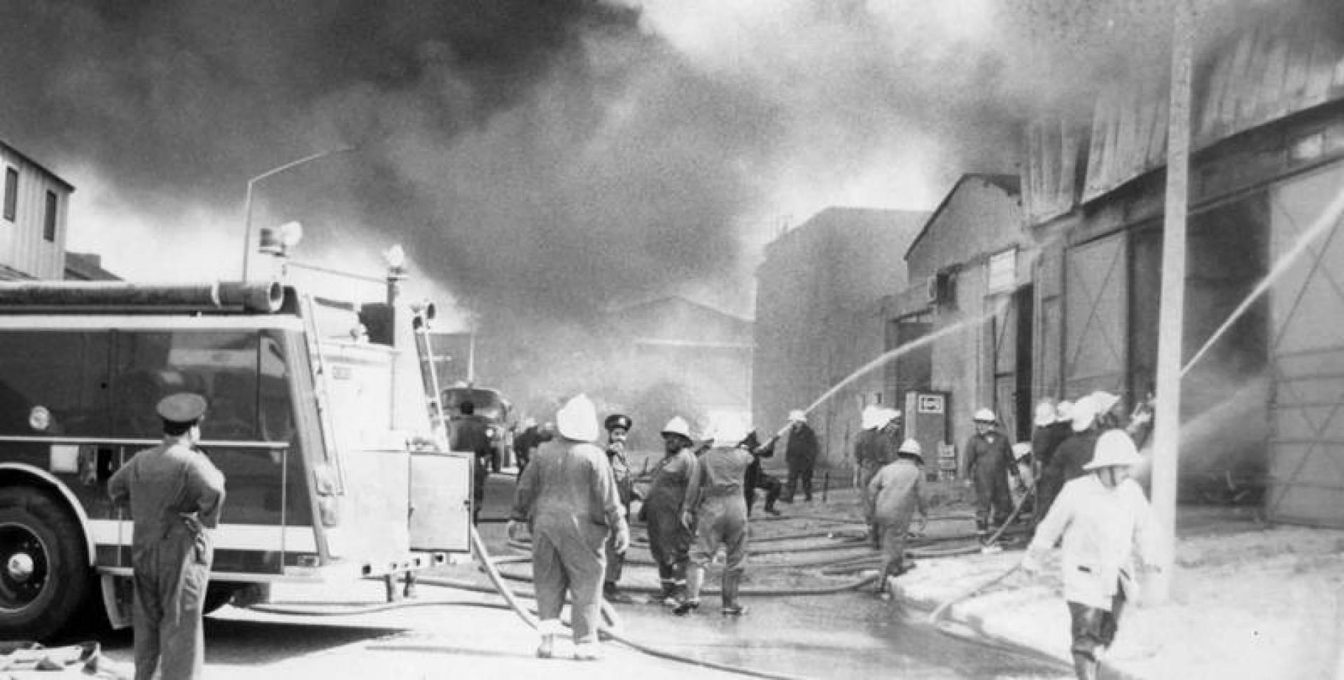 1972/11/20| حريق غامض يلتهم عاملاً بالشويخ ويحوله إلى كتلة متفحمة غير واضحة المعالم