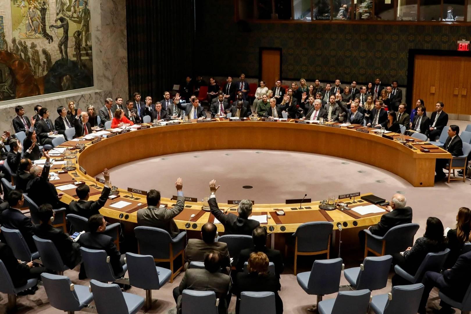 مجلس الأمن يتبنى بياناً حول حظر استخدام الأسلحة الكيميائية
