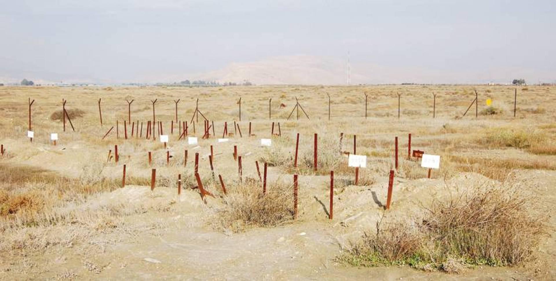 مقبرة معروفة باسم «مقبرة الأعداد» في قاعدة عسكرية قديمة في المنطقة المحظورة على الحدود بين إسرائيل والأردن