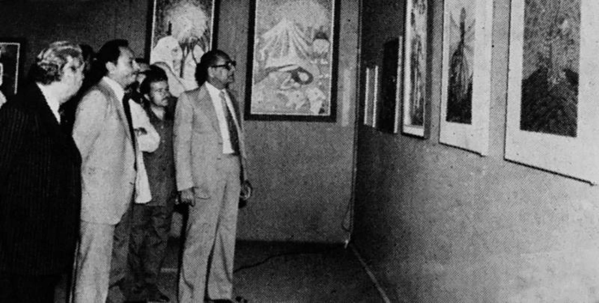 1980  عبدالعزيز حسين يفتتح معرض التشكيليين الفلسطينيين
