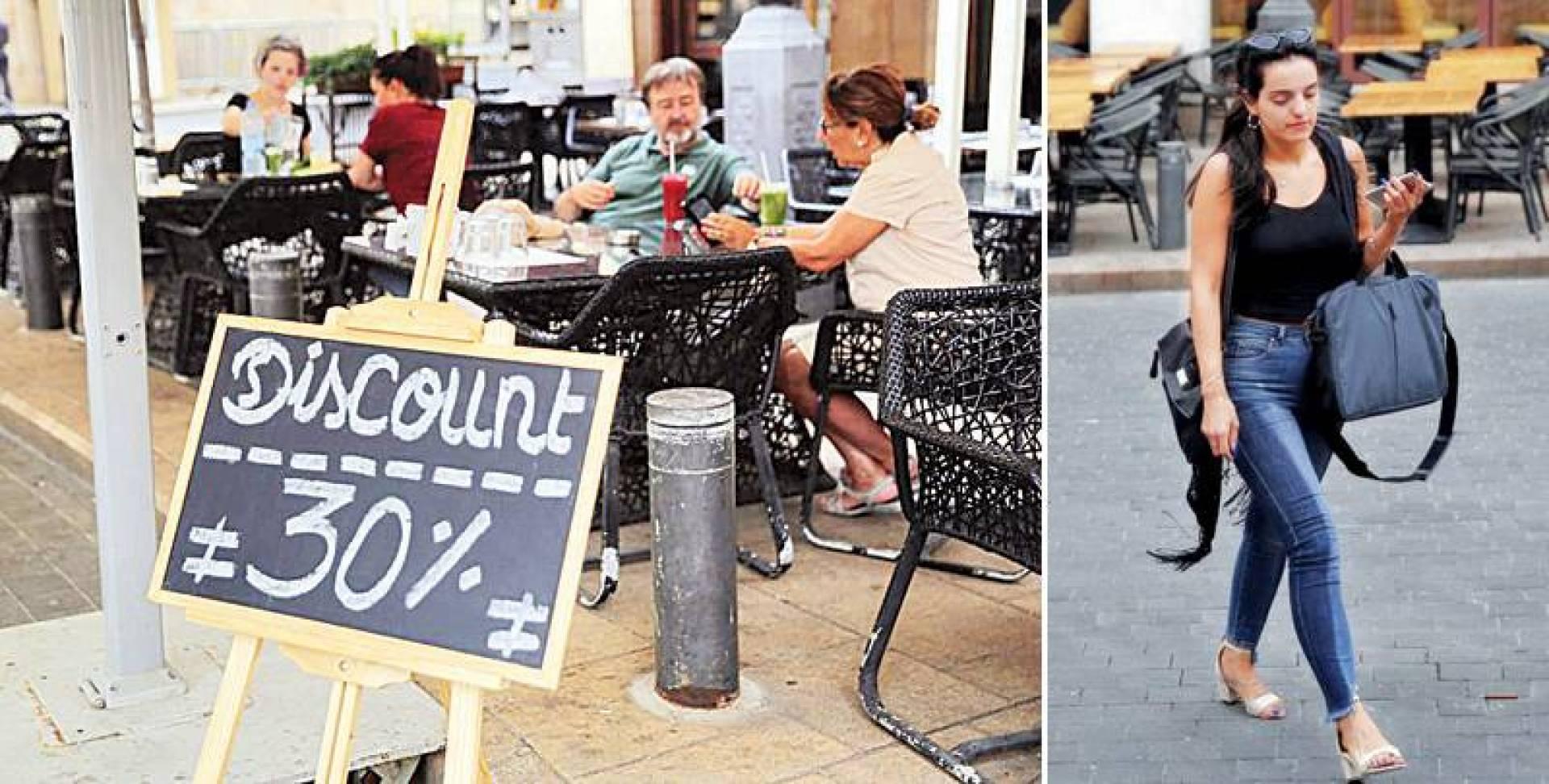 لبنانية تمر أمام أحد مطاعم بيروت الخالية من الزبائن - أزمة المطاعم بدأت منذ أعوام.. وبلغت ذروتها مع الانهيار الحاصل