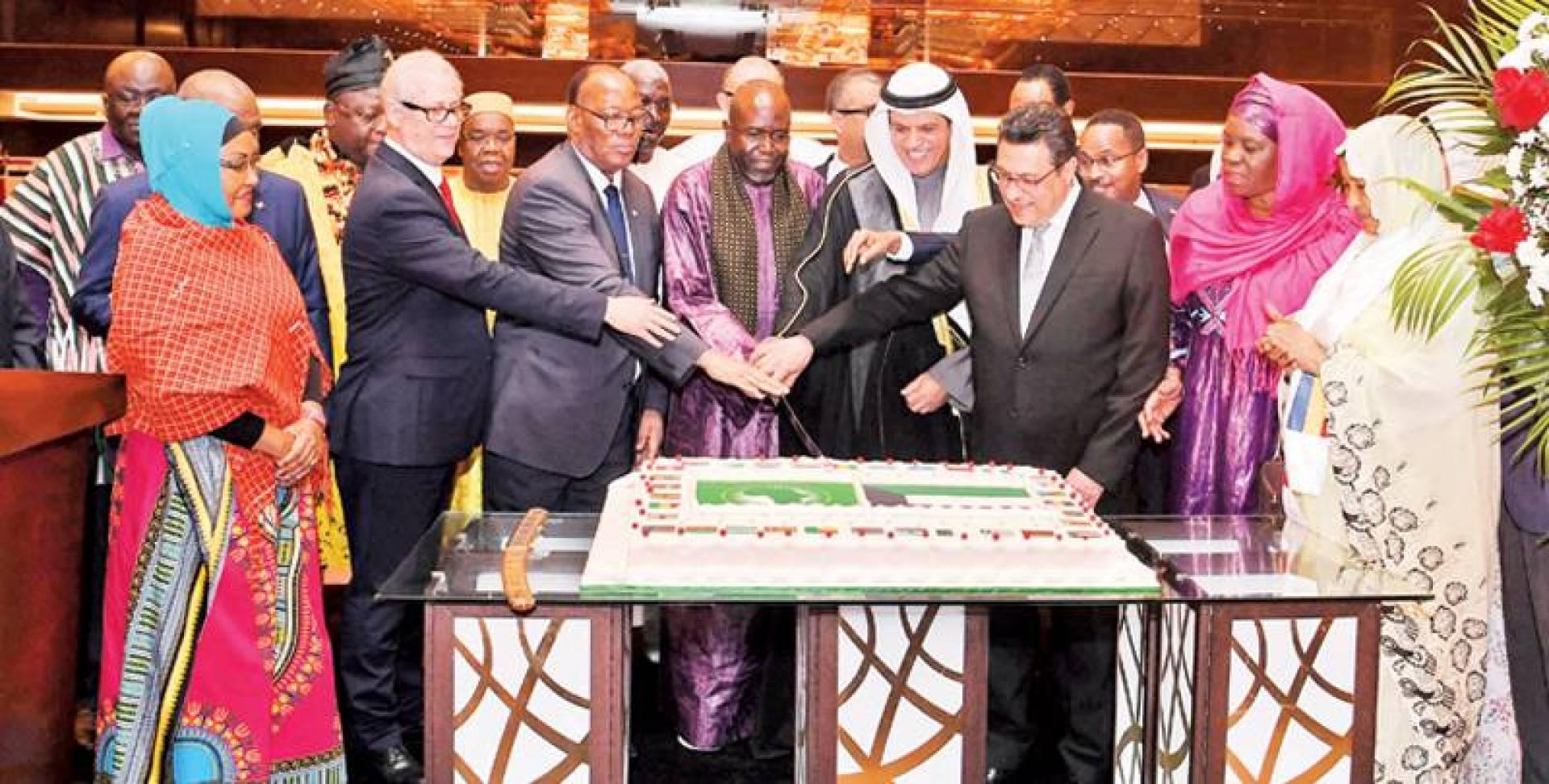 السعيد والقوني وإمباكي ودبلوماسيون خلال افتتاح يوم أفريقيا| تصوير محمد خلف
