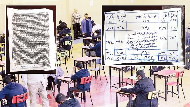 طالب ثانوي ينشد التفوق بطلاسم وحجاب