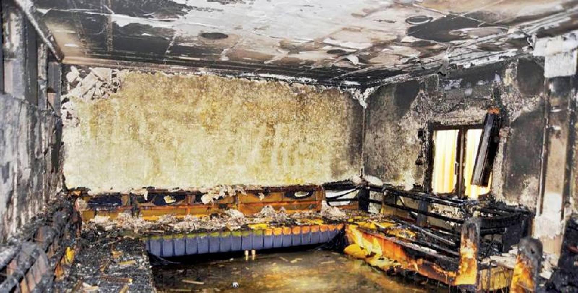 آثار الحريق داخل المنزل | الإطفاء