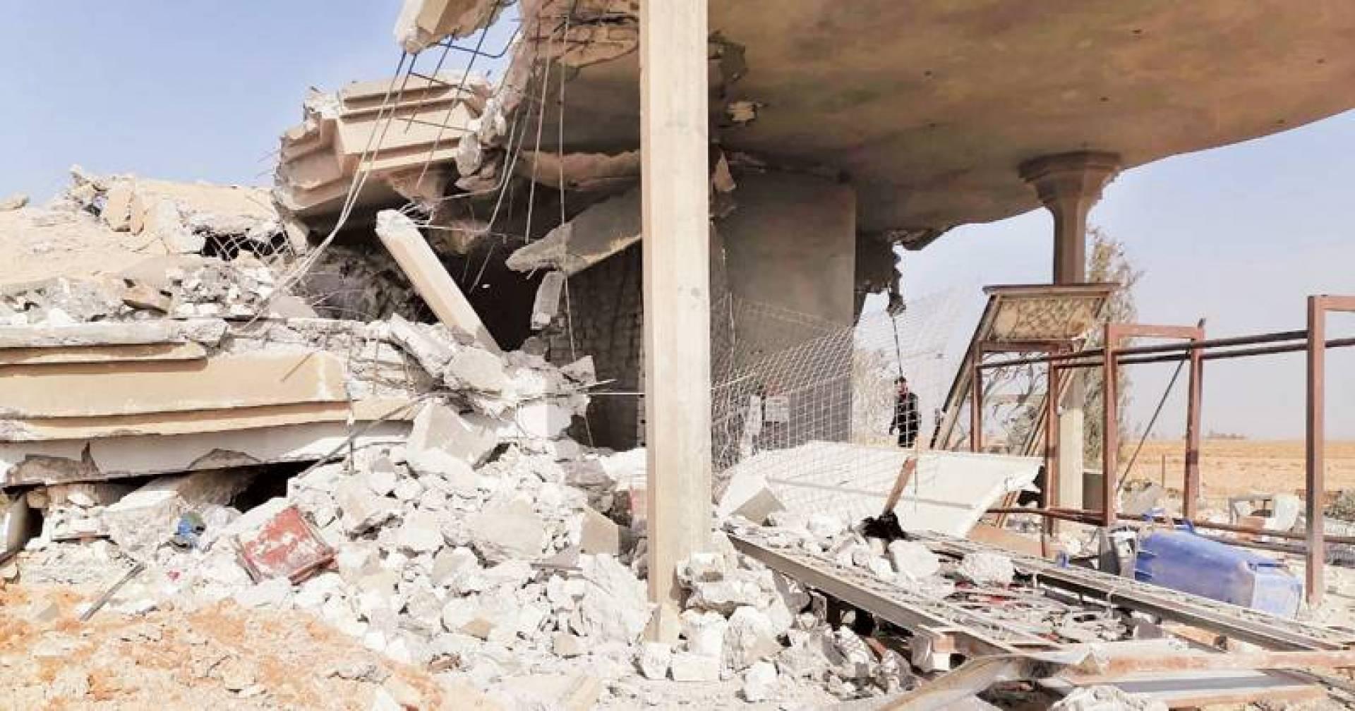 أحد مقرات «حزب الله» العراقي في القائم بعد تدميره