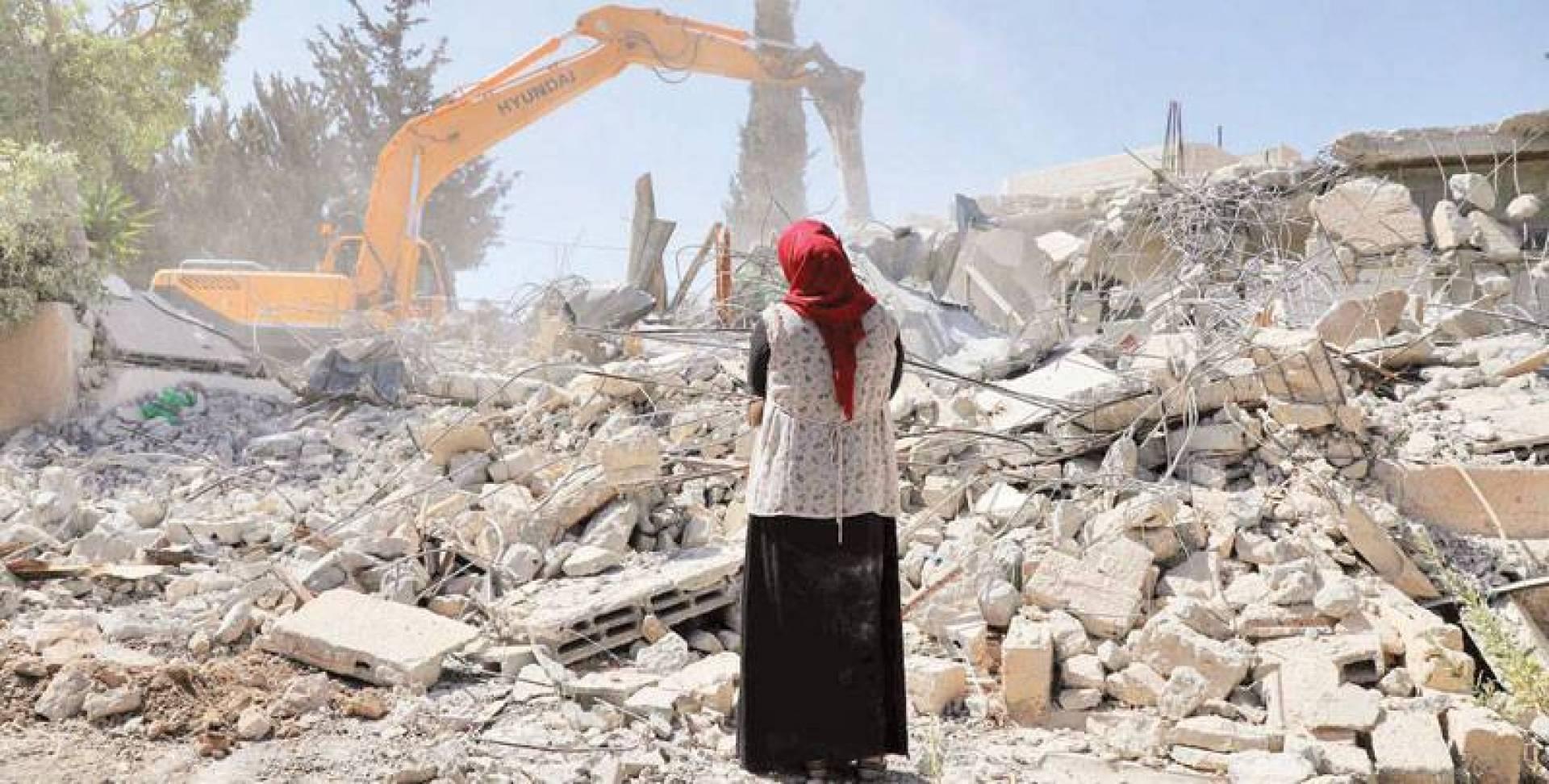 هدم منازل الفلسطينيين جزء من السياسة الإسرائيلية  لتثبيت أركان الاحتلال