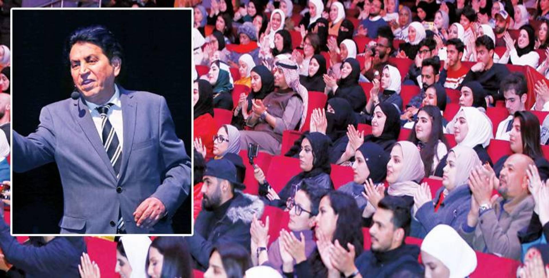 حضور كثيف  للجمهور في الأمسية - كريم العراقي خلال الامسية