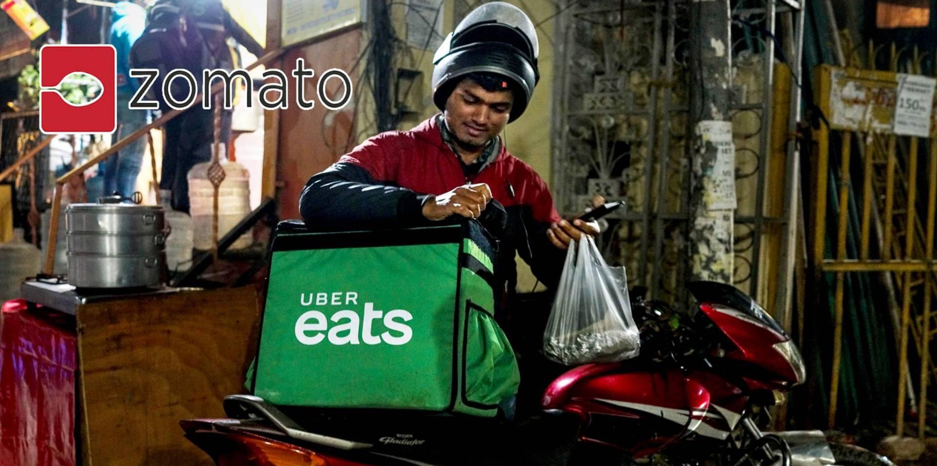 «زوماتو» لتوصيل الطعام تستحوذ على «أوبر إيتس» في الهند