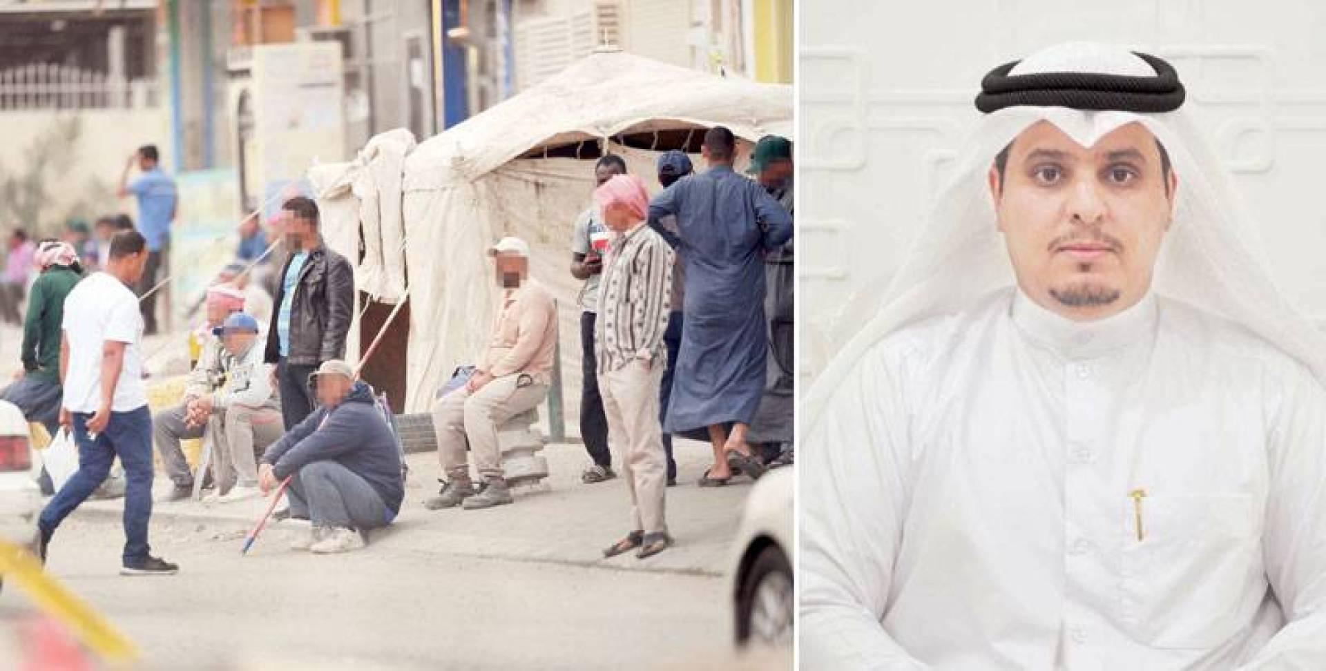 محمد العتيبي - العمالة الهامشية إلى متى؟   تصوير حسني هلال