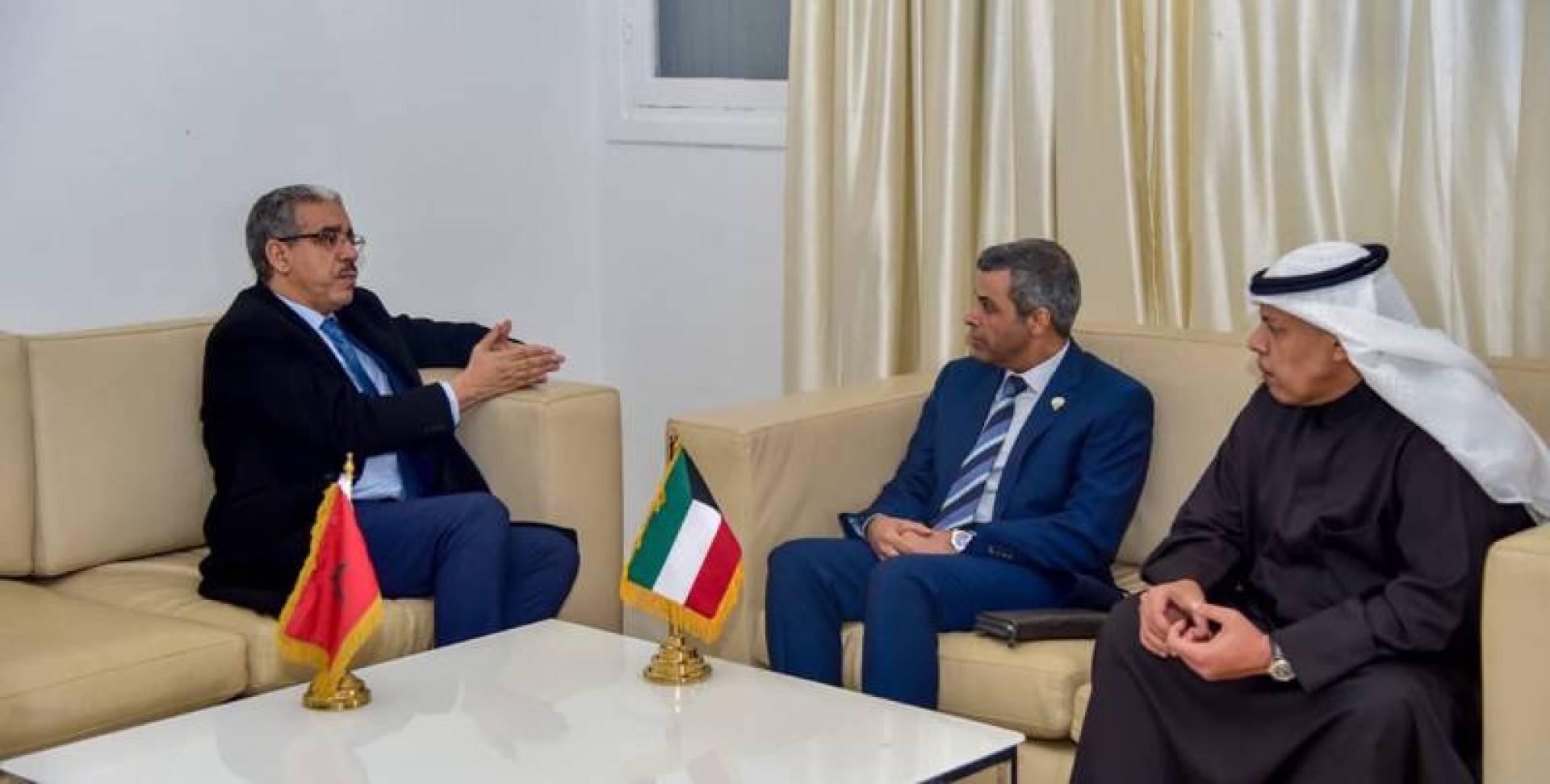 الفاضل بحث تعزيز التعاون النفطي مع المغرب