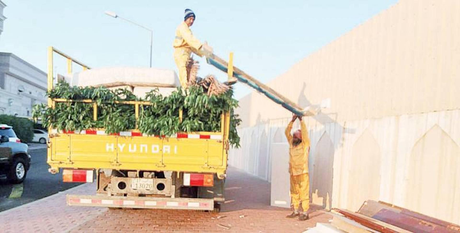 رفع مخلفات الأثاث والأشجار    | البلدية