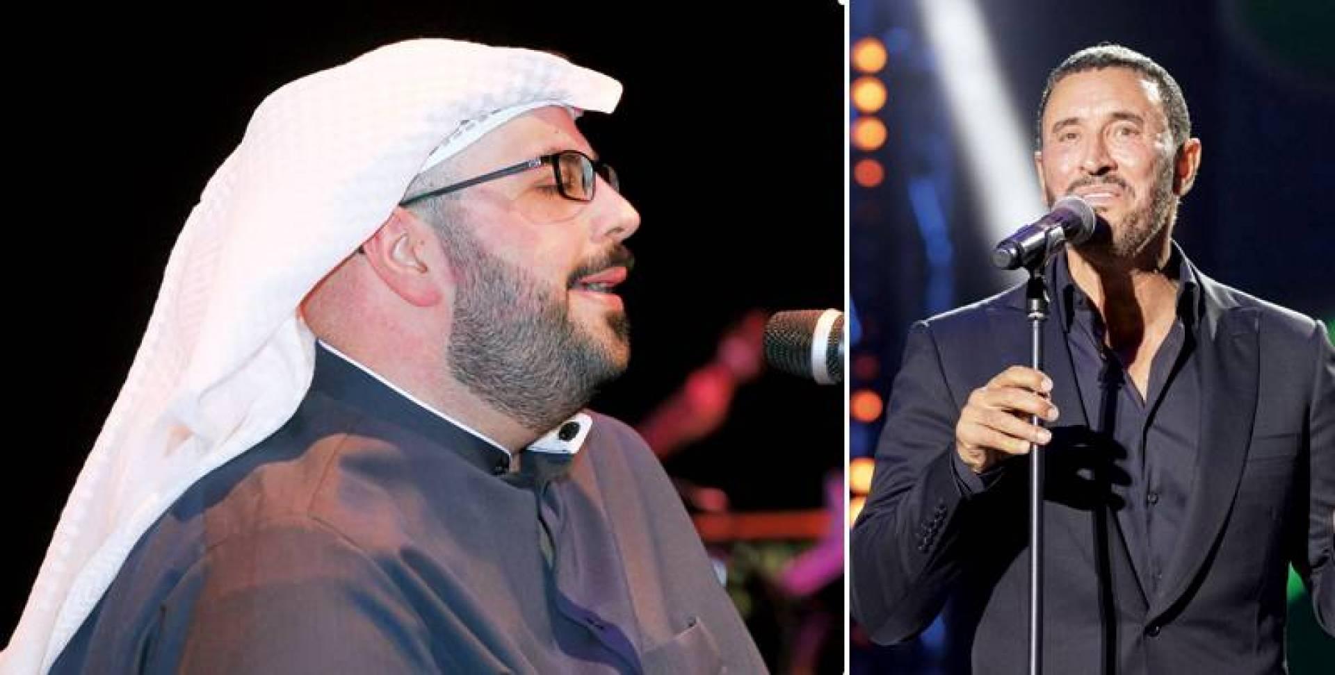 كاظم الساهر - محمد مخصيد ضمن فعاليات مهرجان القرين الثقافي