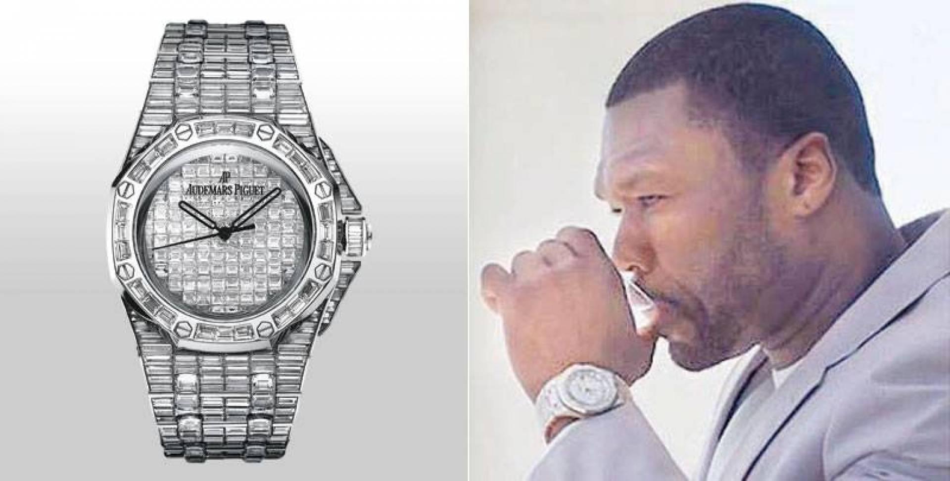 ساعة فيفتي سنت تحوي 456 قطعة ألماس