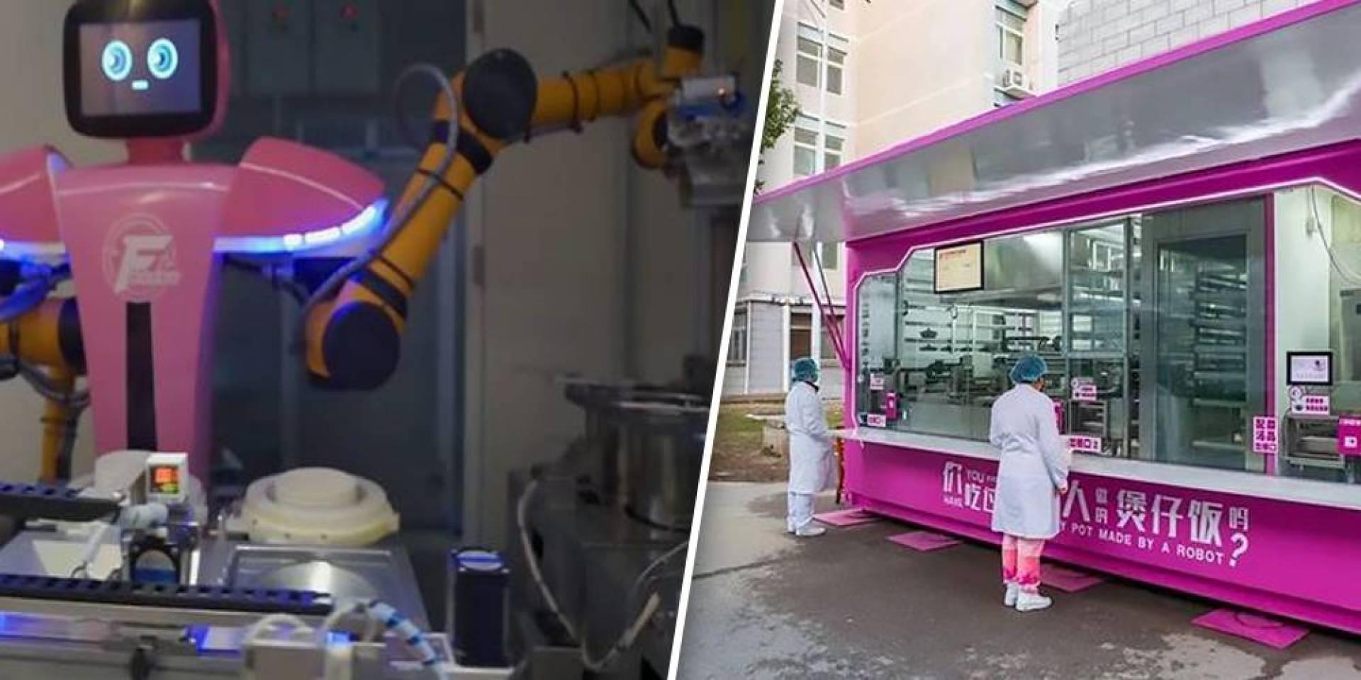 روبوتات تقدّم وجبات الطعام للطواقم الطبية في ووهان.. بؤرة فيروس كورونا
